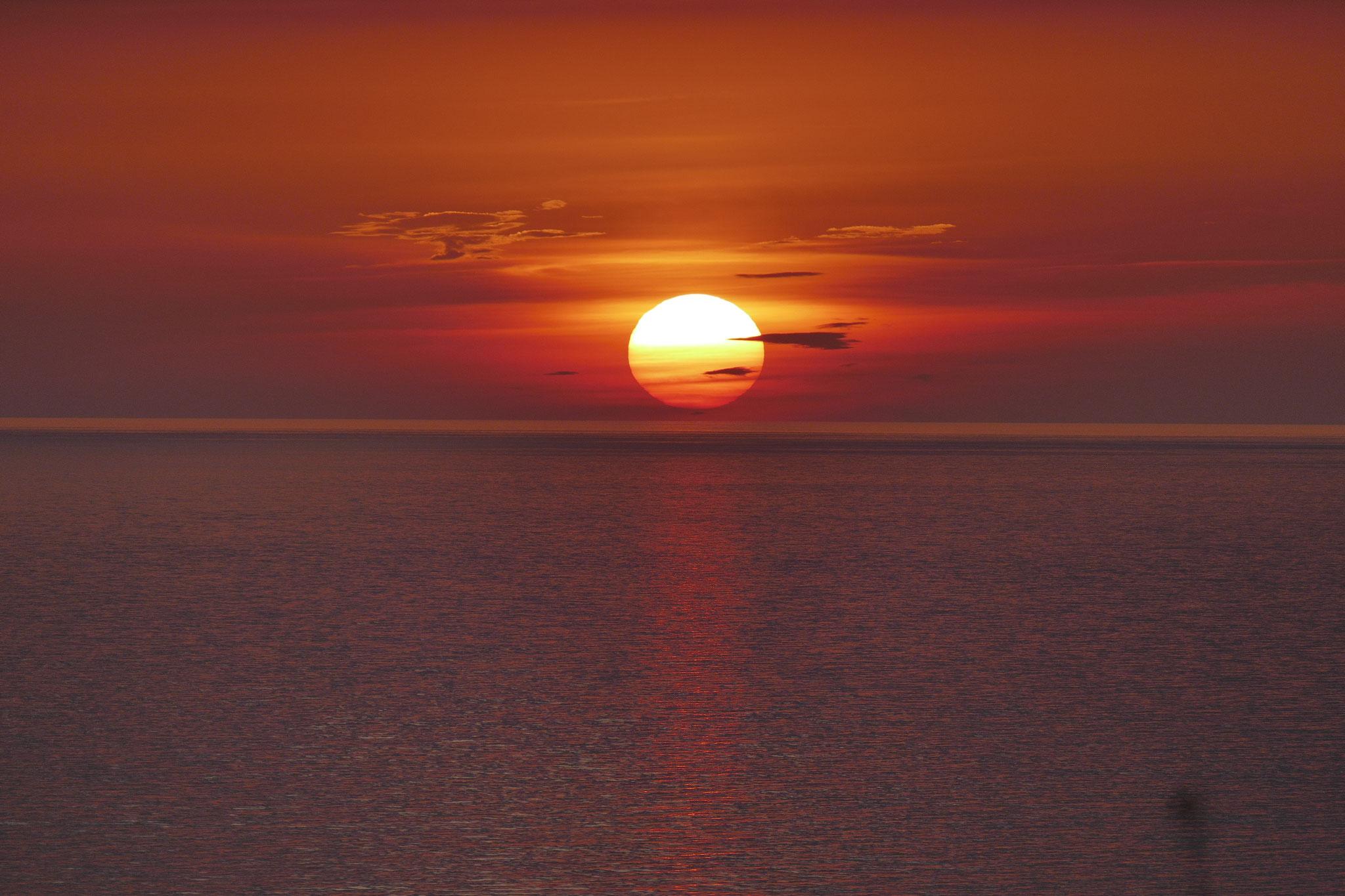 Sonnenuntergang vom Leuchturm aus