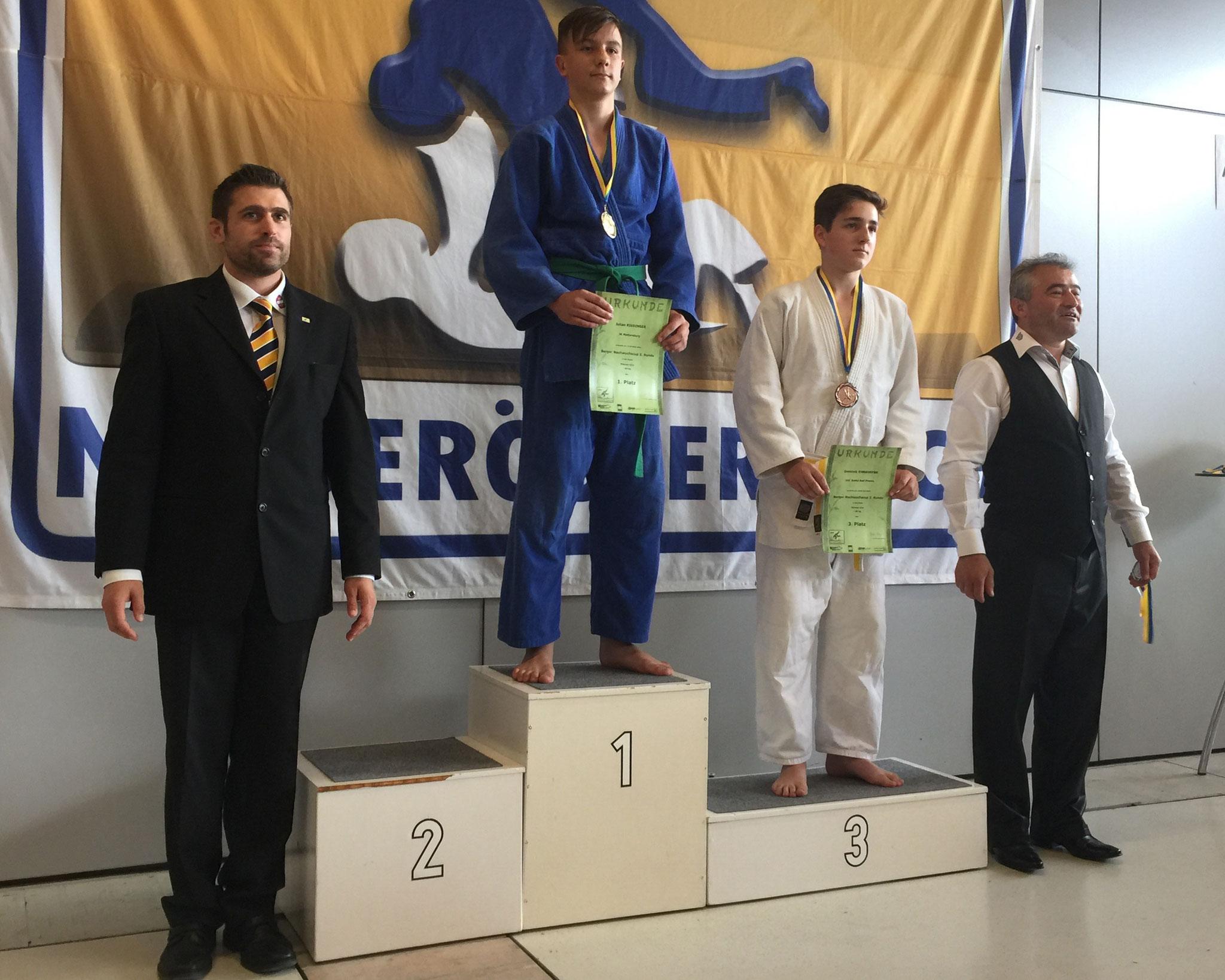 1. Platz und Gold für Julian Riedinger in der U14