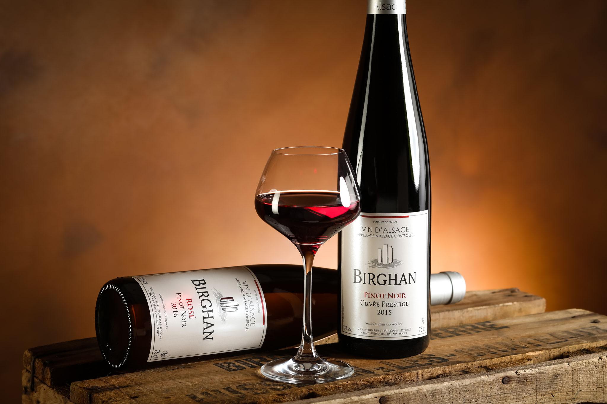 Pinot Noir Cuvée Prestige et Pinot Rosé