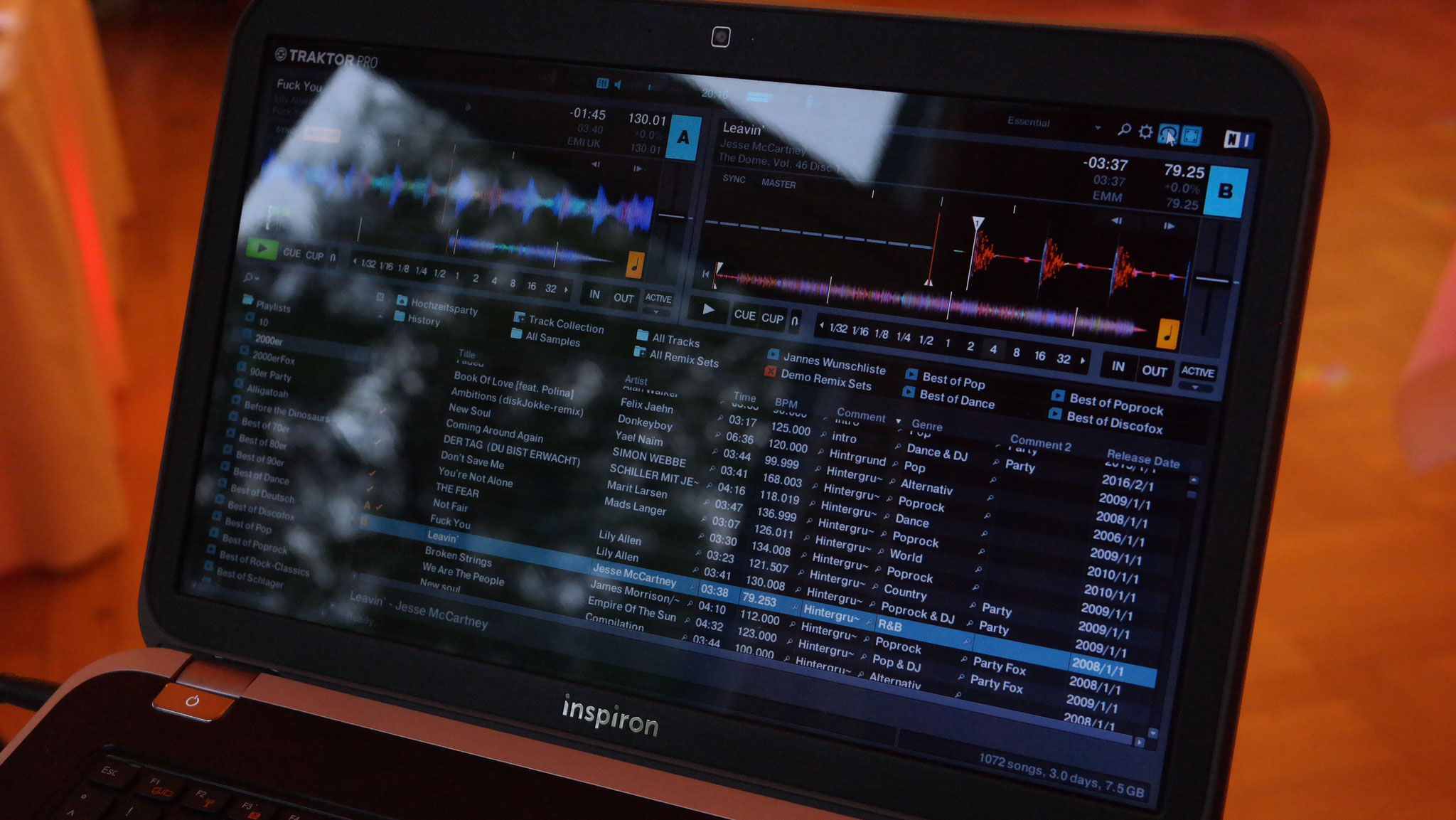 DJ-Software Traktor Pro2 von Nativ Instruments auf Core I7 Notebook von Dell