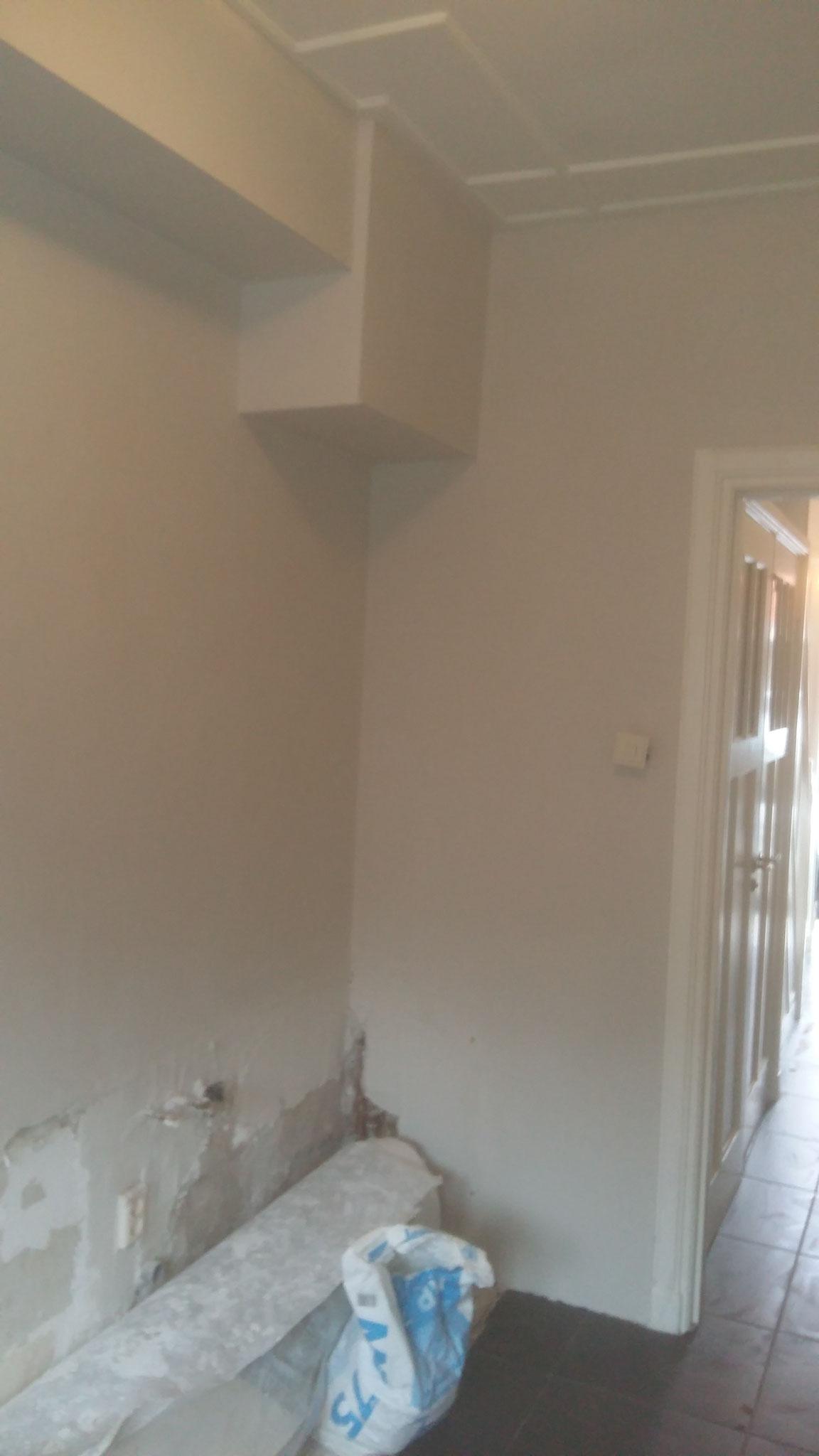 Kamer met gips sausklaar