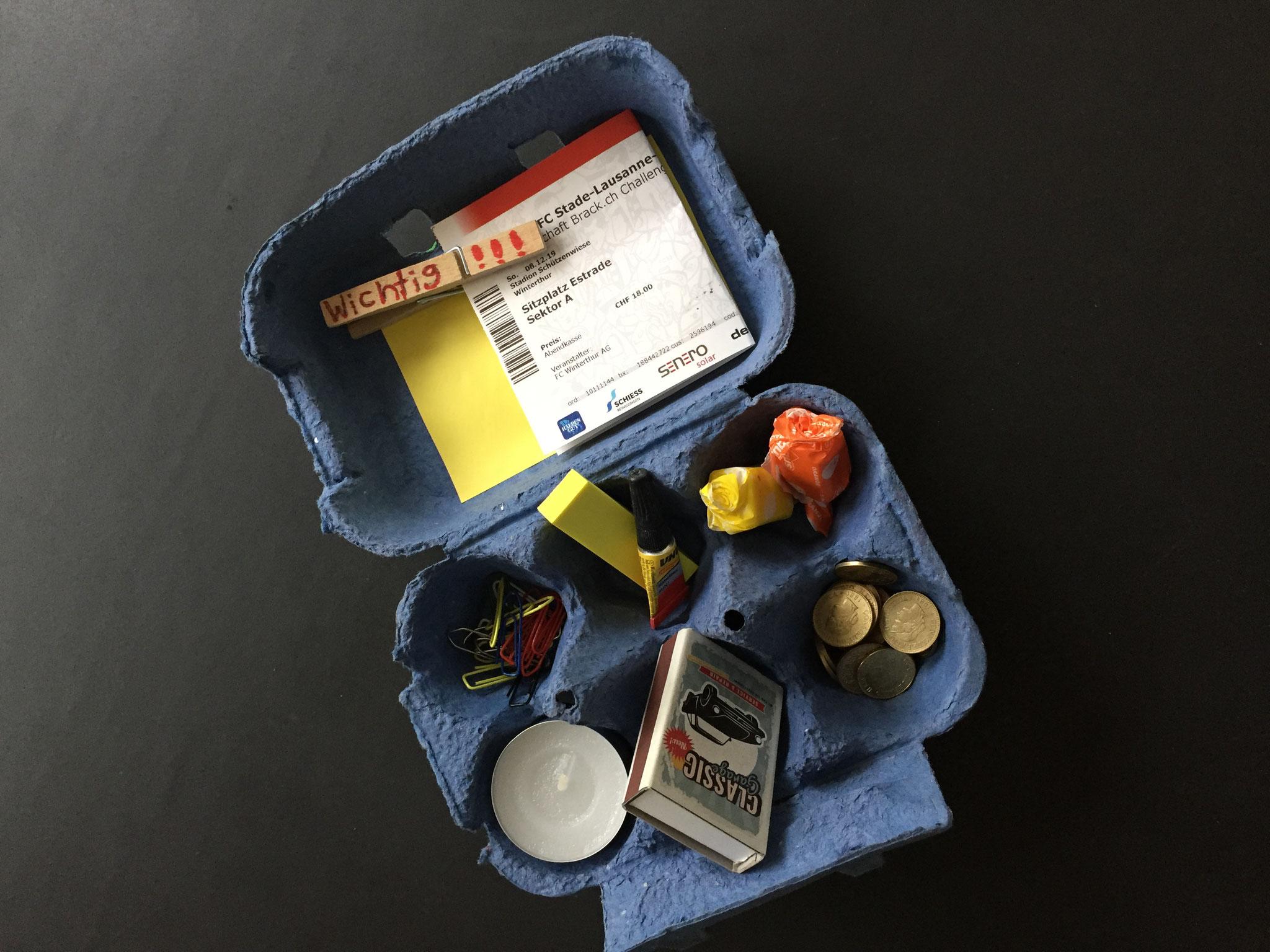 Jetzt ist die Box fertig und du kannst kleine Dinge rein füllen.