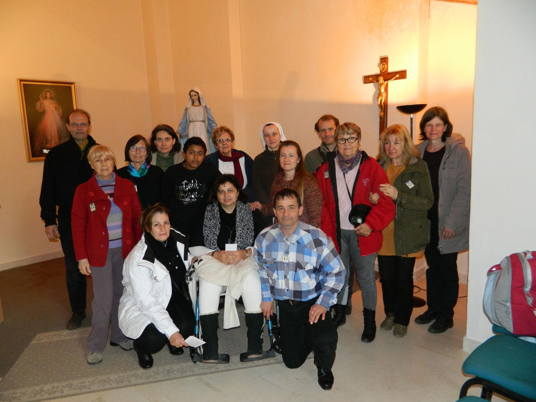 En février 2012, avec nos amis de Toulon (sud de la France)