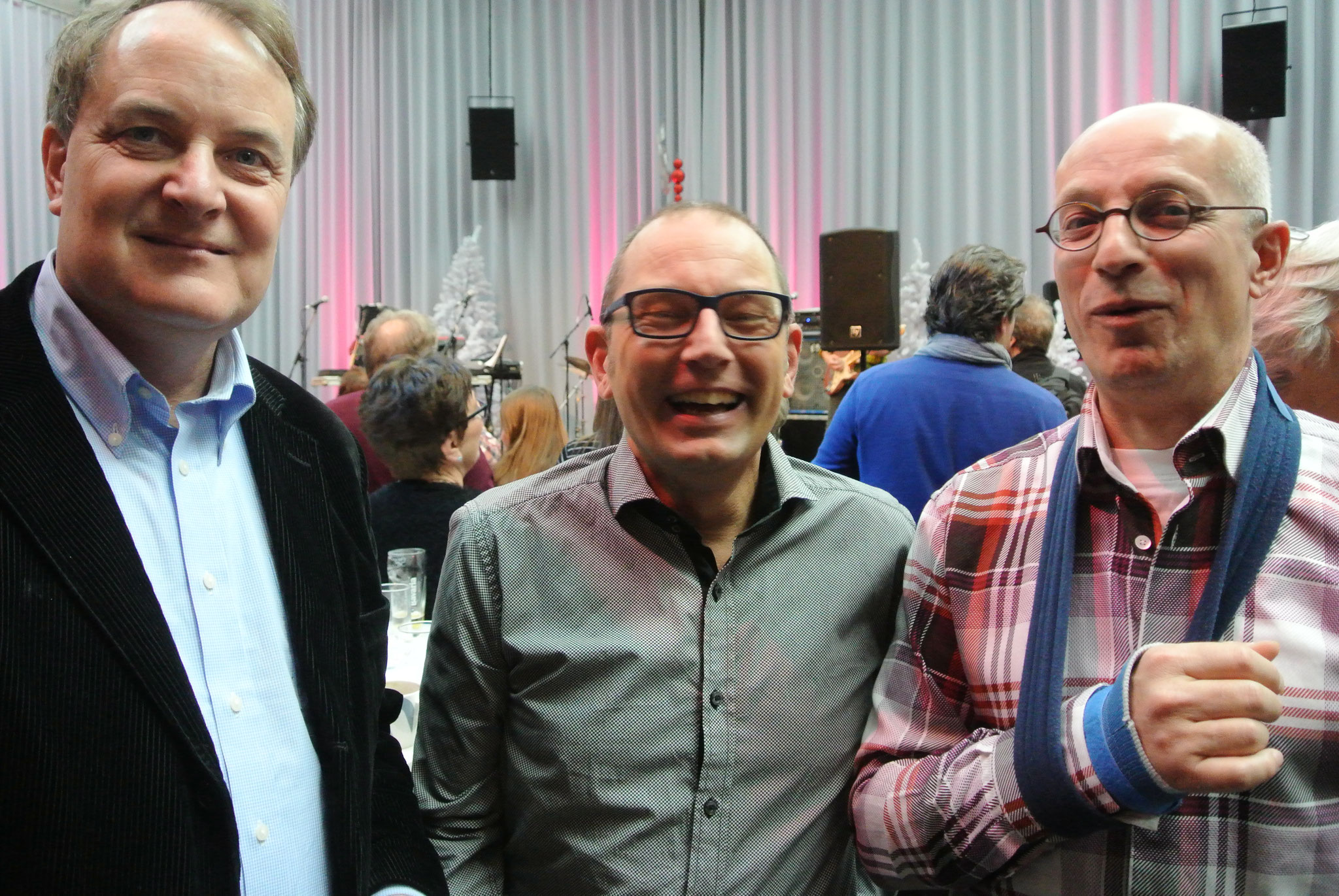 Wethouder Huib van Olden/ Voormalig wethouder en voorzitter Bart Eigeman/ Voormalig directeur Muzerije Theo de Veer