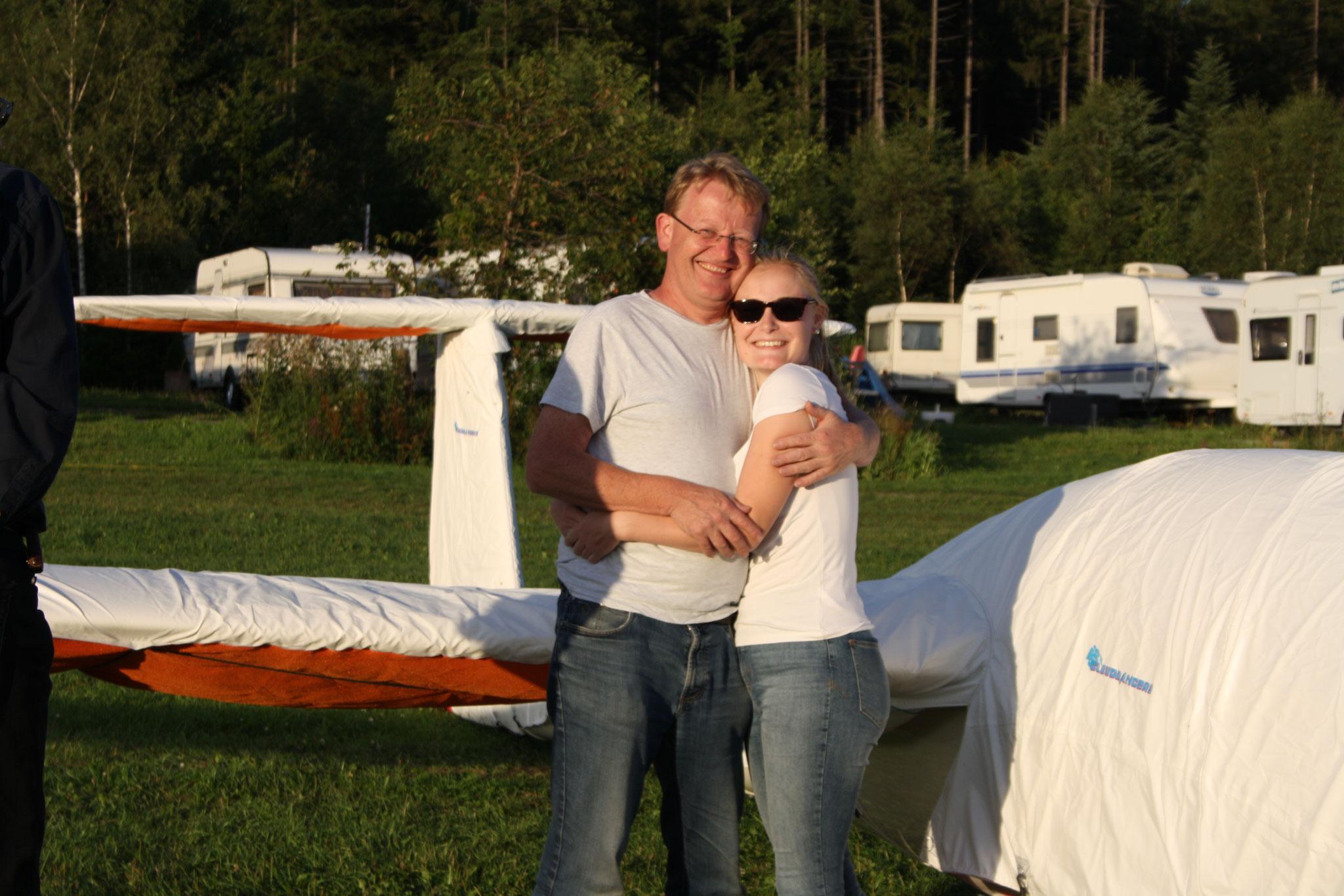 Johannes mit seiner Tochter Julia