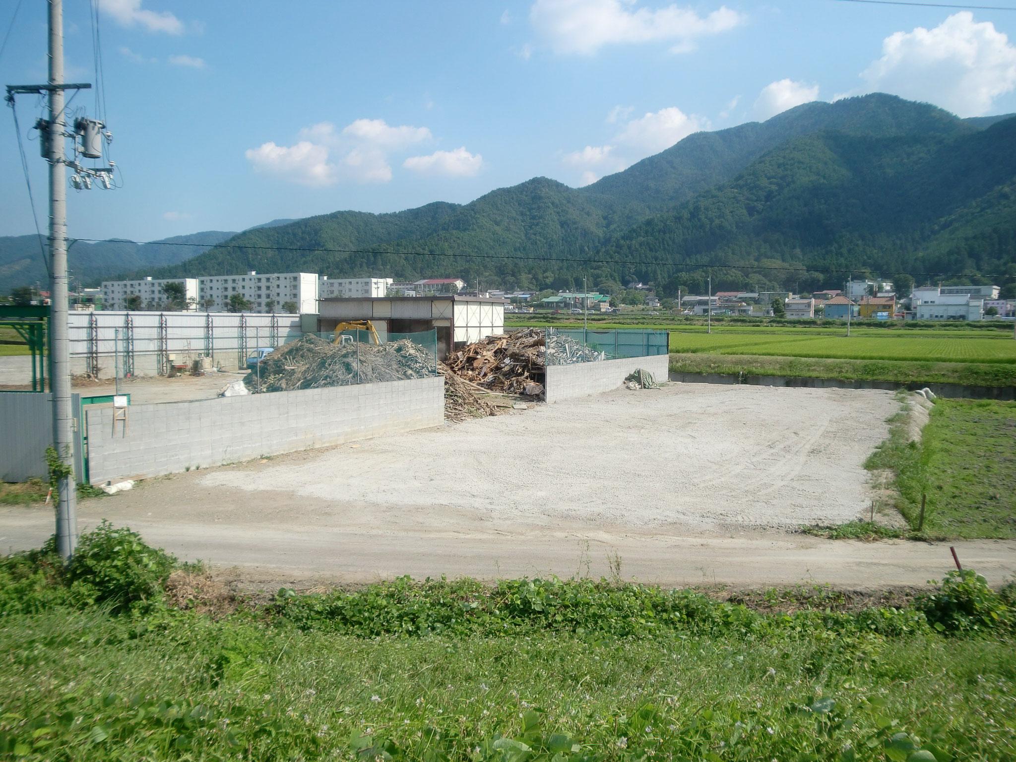 木材リサイクル工場 北側