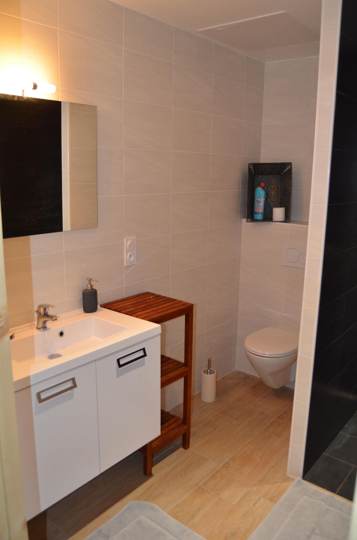 Badkamer en wc gelijkvloer