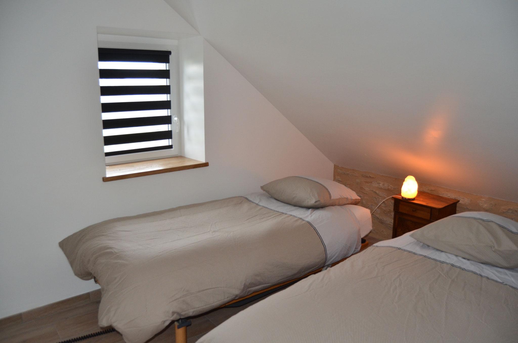 kamer twee bedden 190x200 (noord noord-oost)