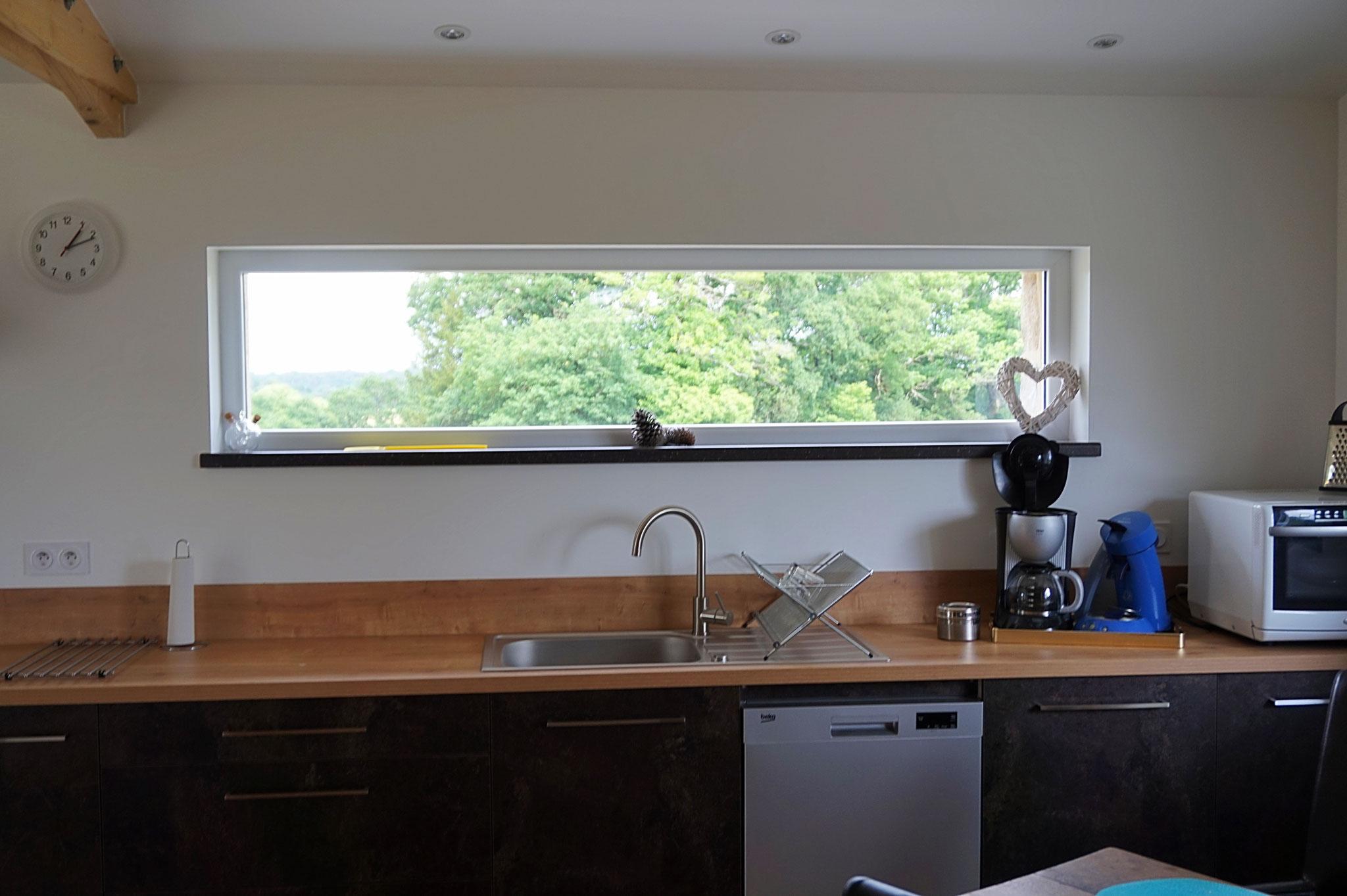 Keuken met zicht