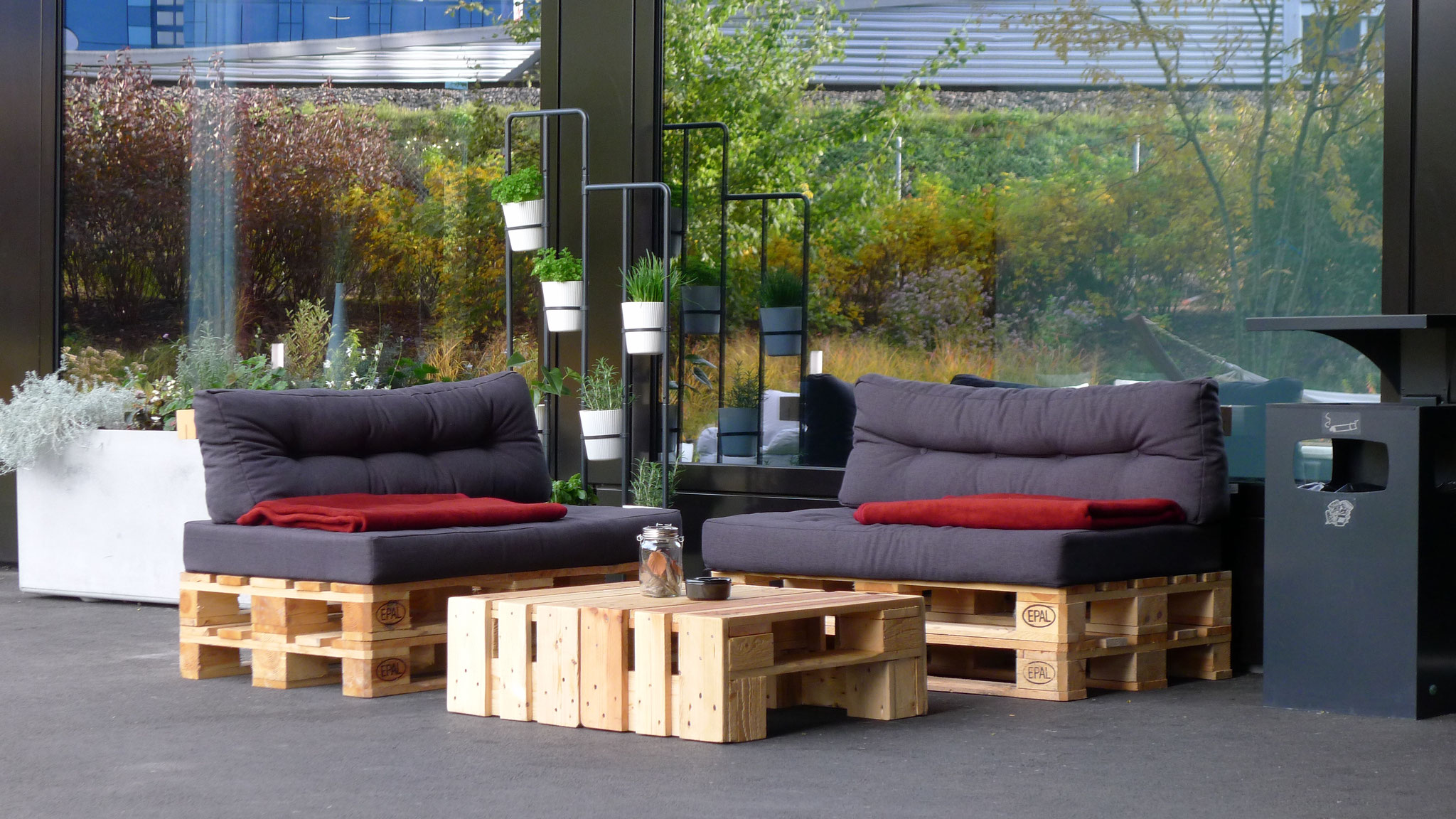 Lounge-Bereich Dorint Airport Hotel Zürich
