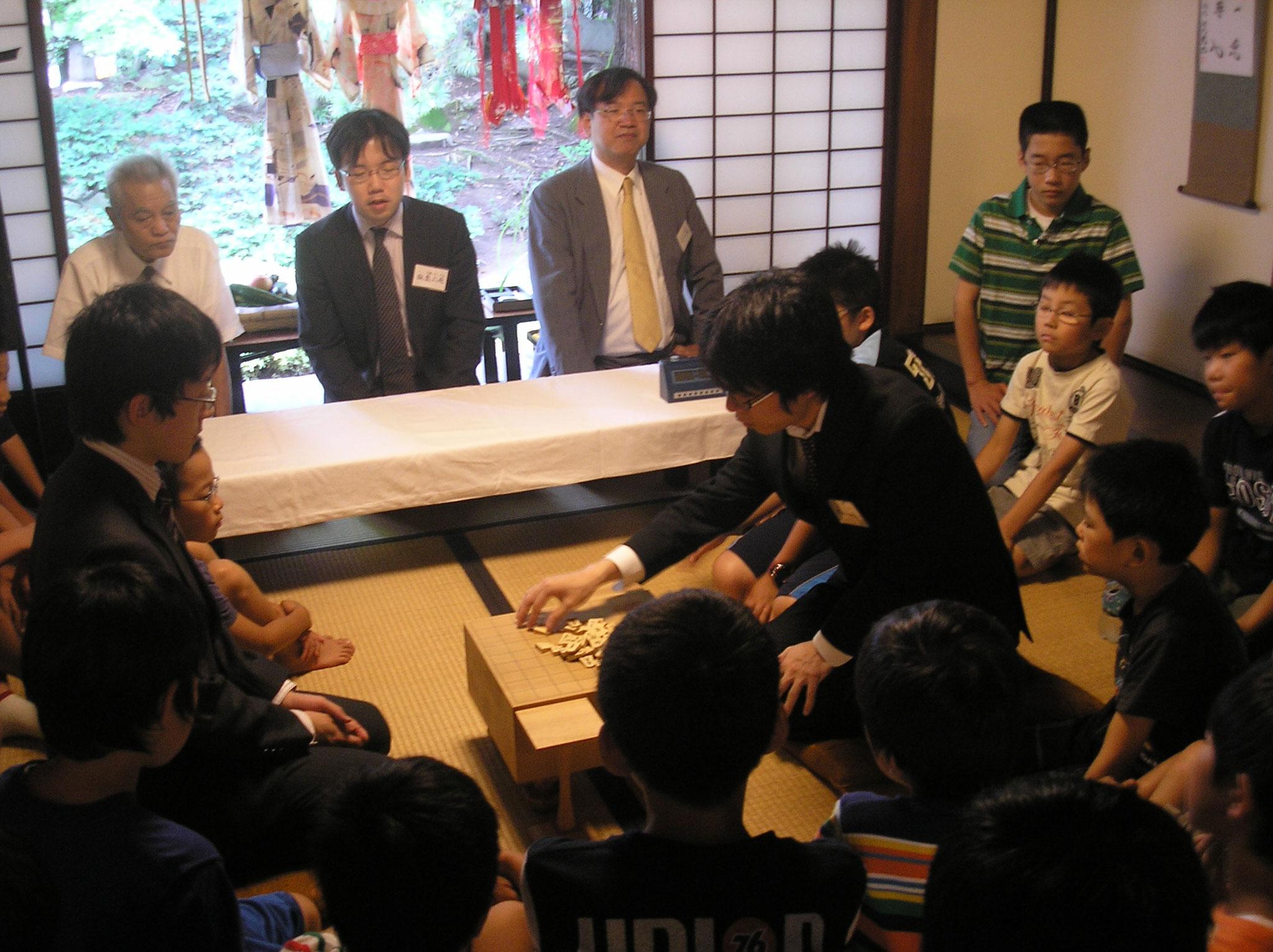 2009年7月 模範対局 田中悠一先生と