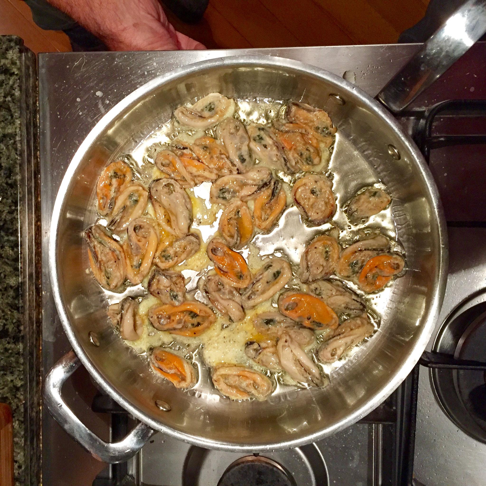 Foodporn: green-lipped mussels mit Kumara
