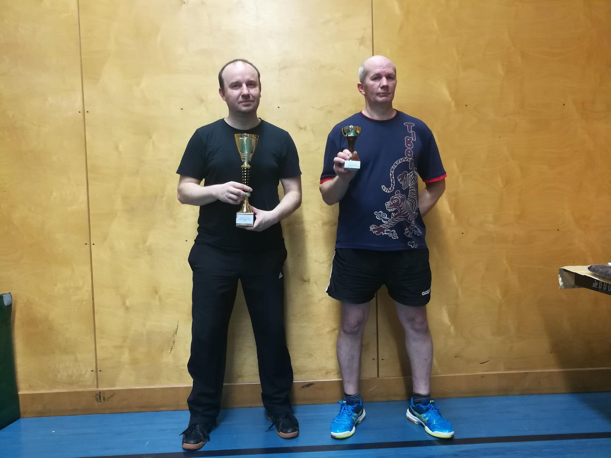 Siegerfoto Bewerb Y: v.l.n.r. Pawel Piotr Galek (LENZ) (Sieger), Endre Pelsöczi (URAP) (Platz 3)
