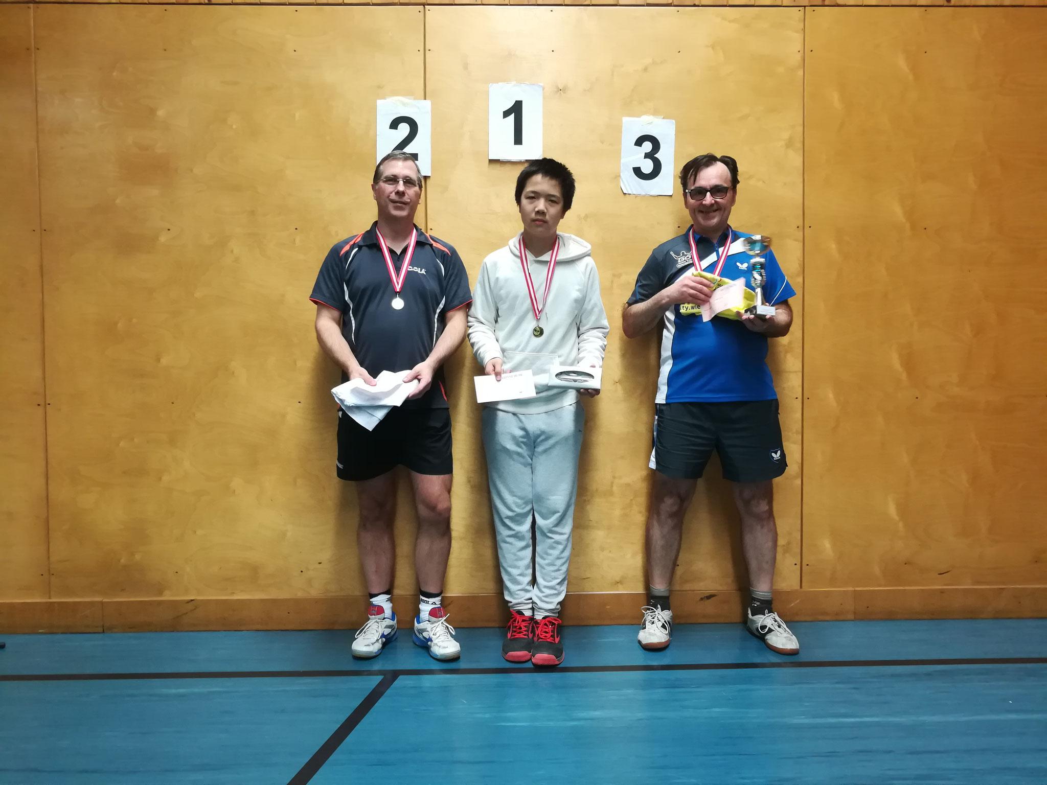 Gesamtsieger Bewerb D: v.l.n.r. Christian Börner (WPAE) (Platz 2), Eric Tang (NFS) (Sieger), Christian Thunshirn (EDEN) (Platz 3)