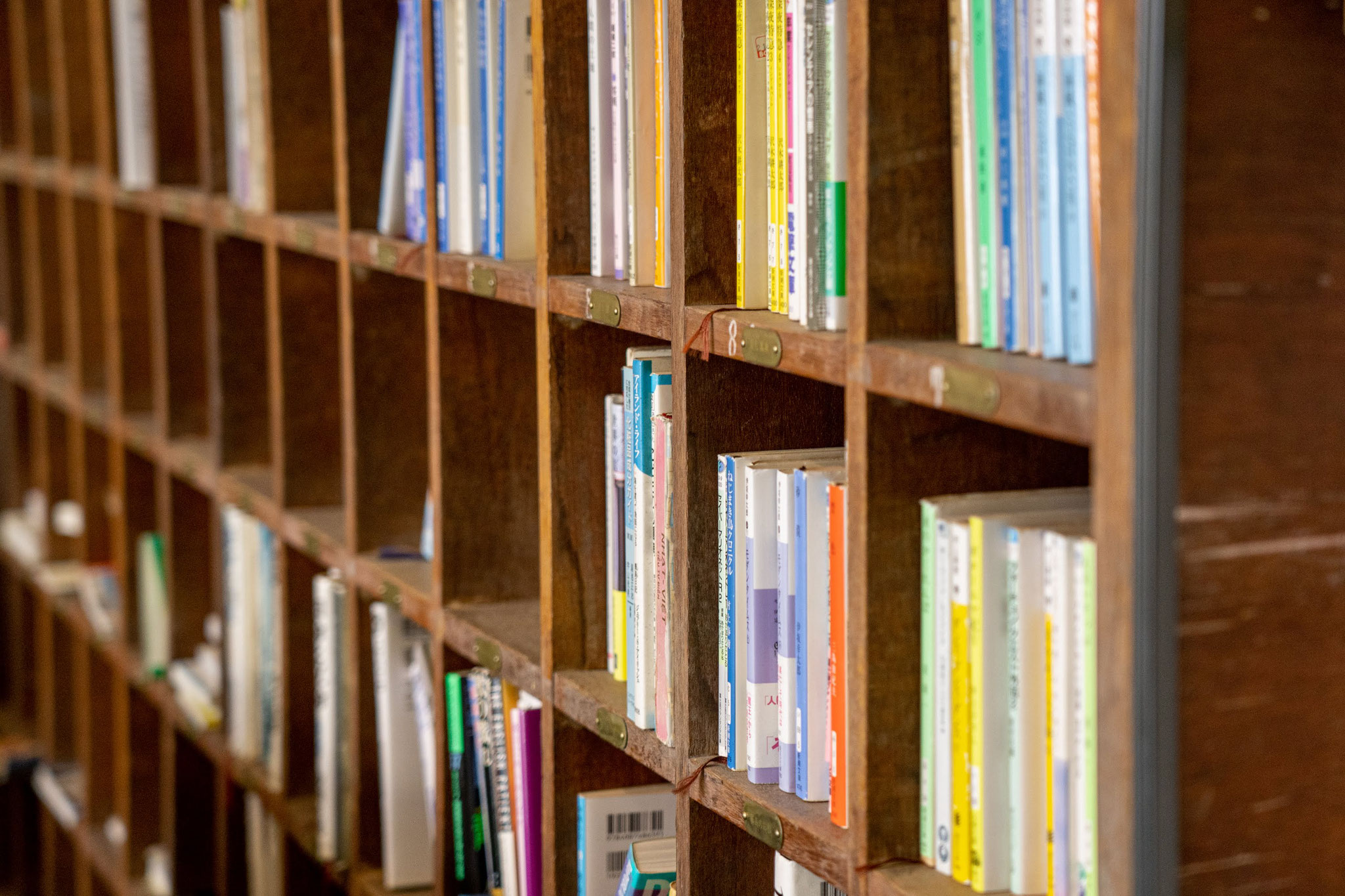 靴箱が蔵書豊富な本棚に変わり
