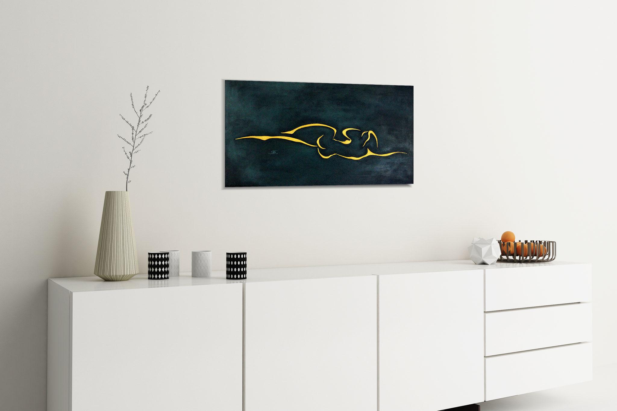 abstraktes Ölgemölde