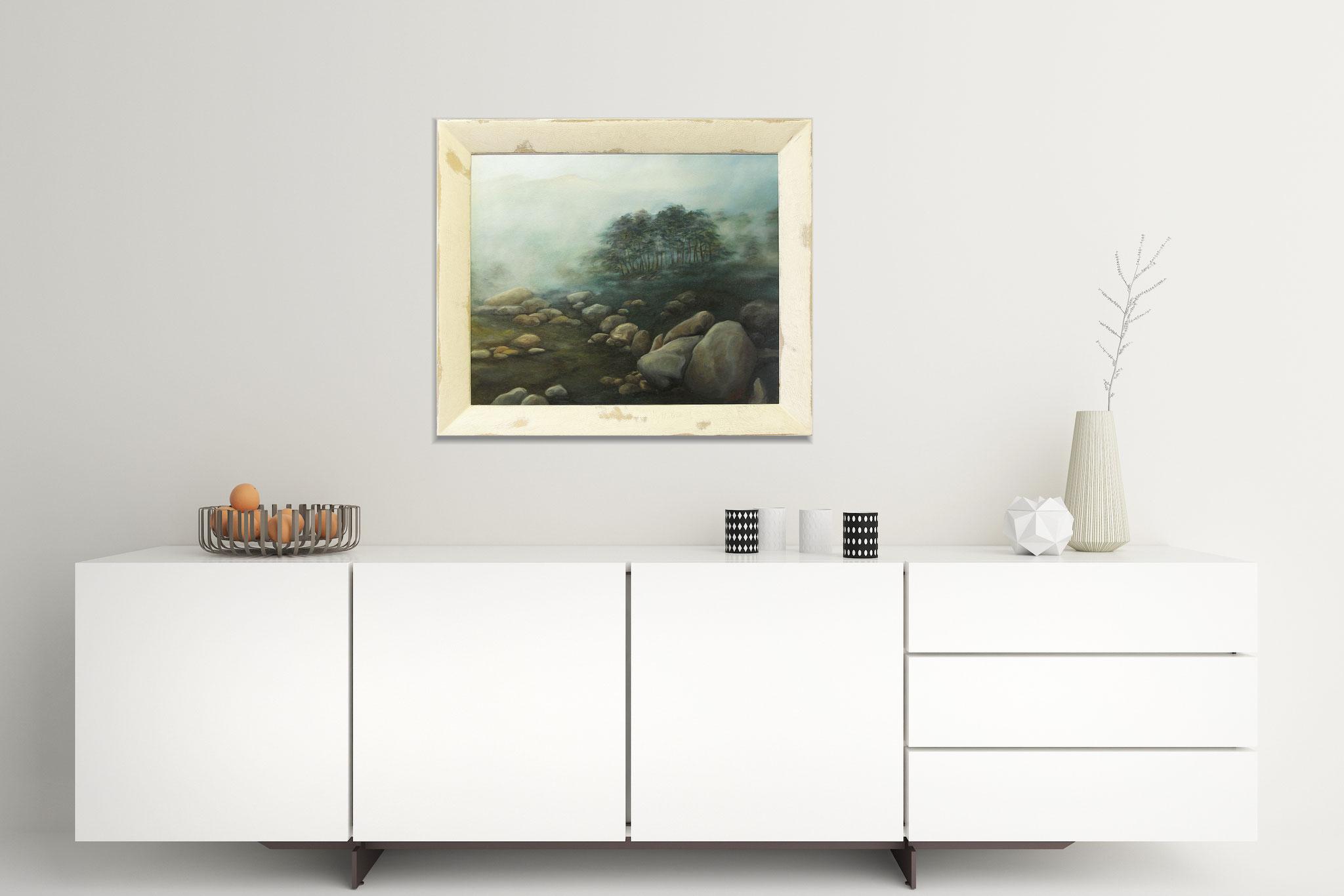 Ölbild mit  Gemälderahmen