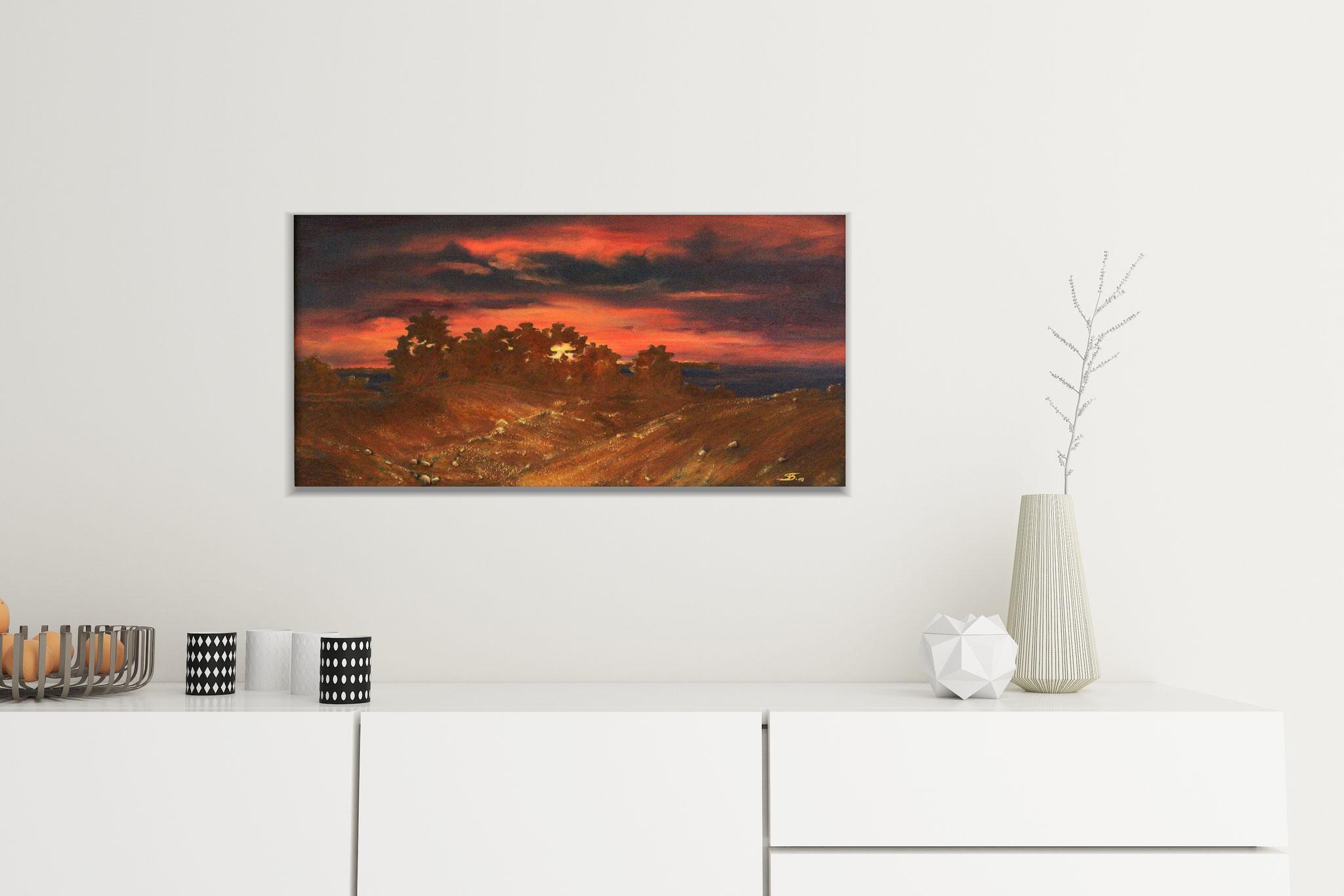 Landschaft, abstraktes Gemälde