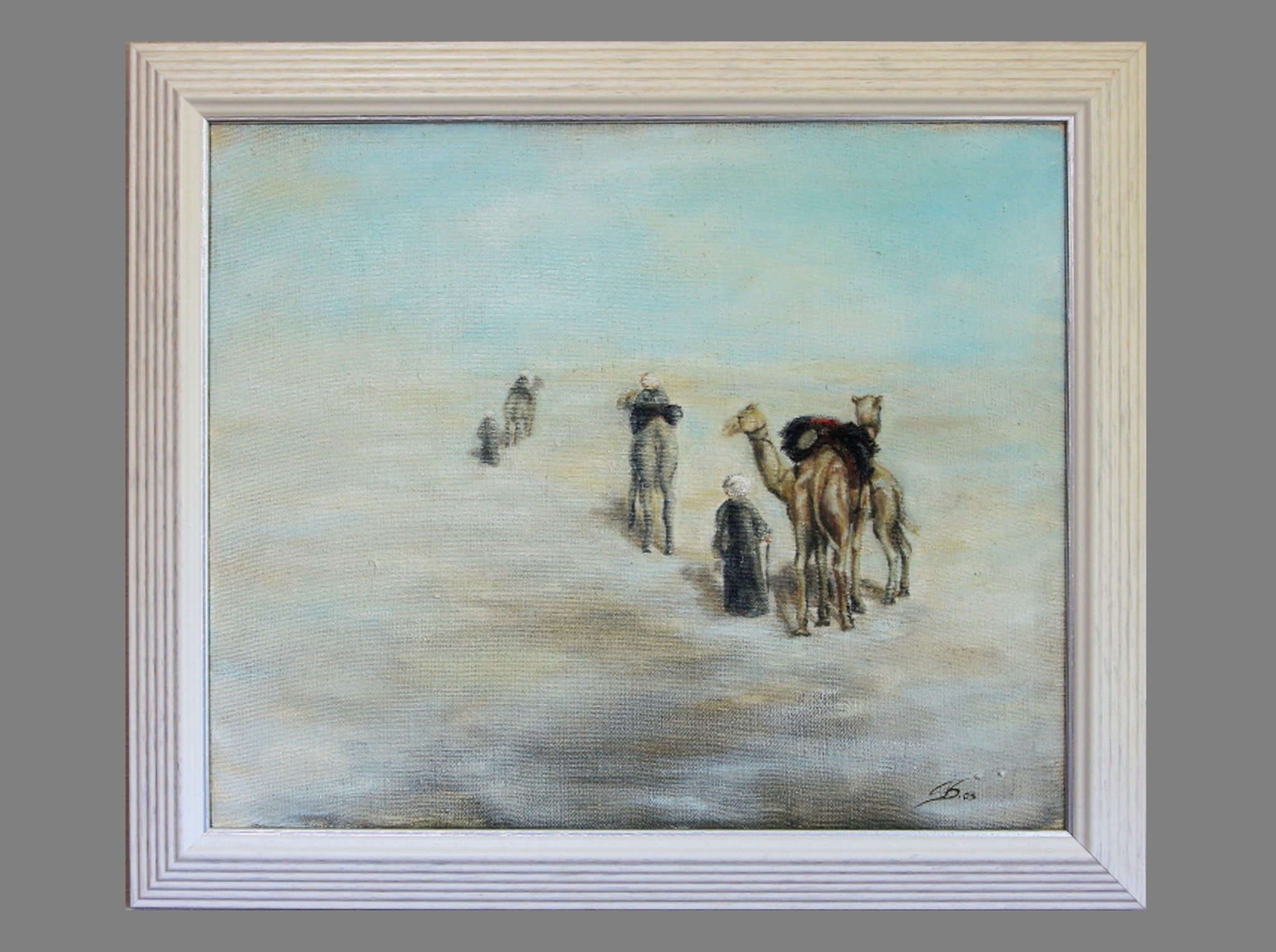 Ölmalerei mit Rahmung