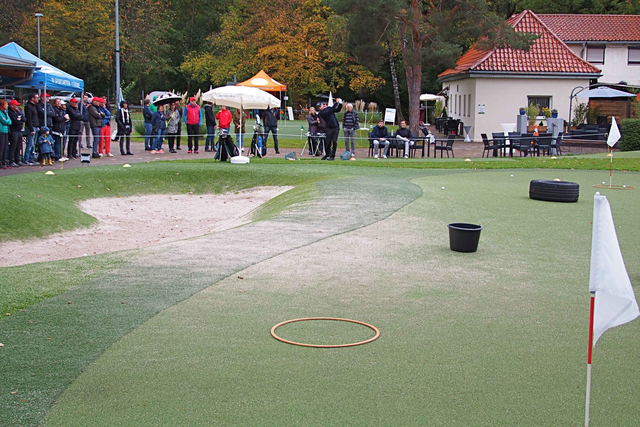 Technik und Gefühl – Zielschießen auf dem Chipping-Green - © GolfKultur Stuttgart
