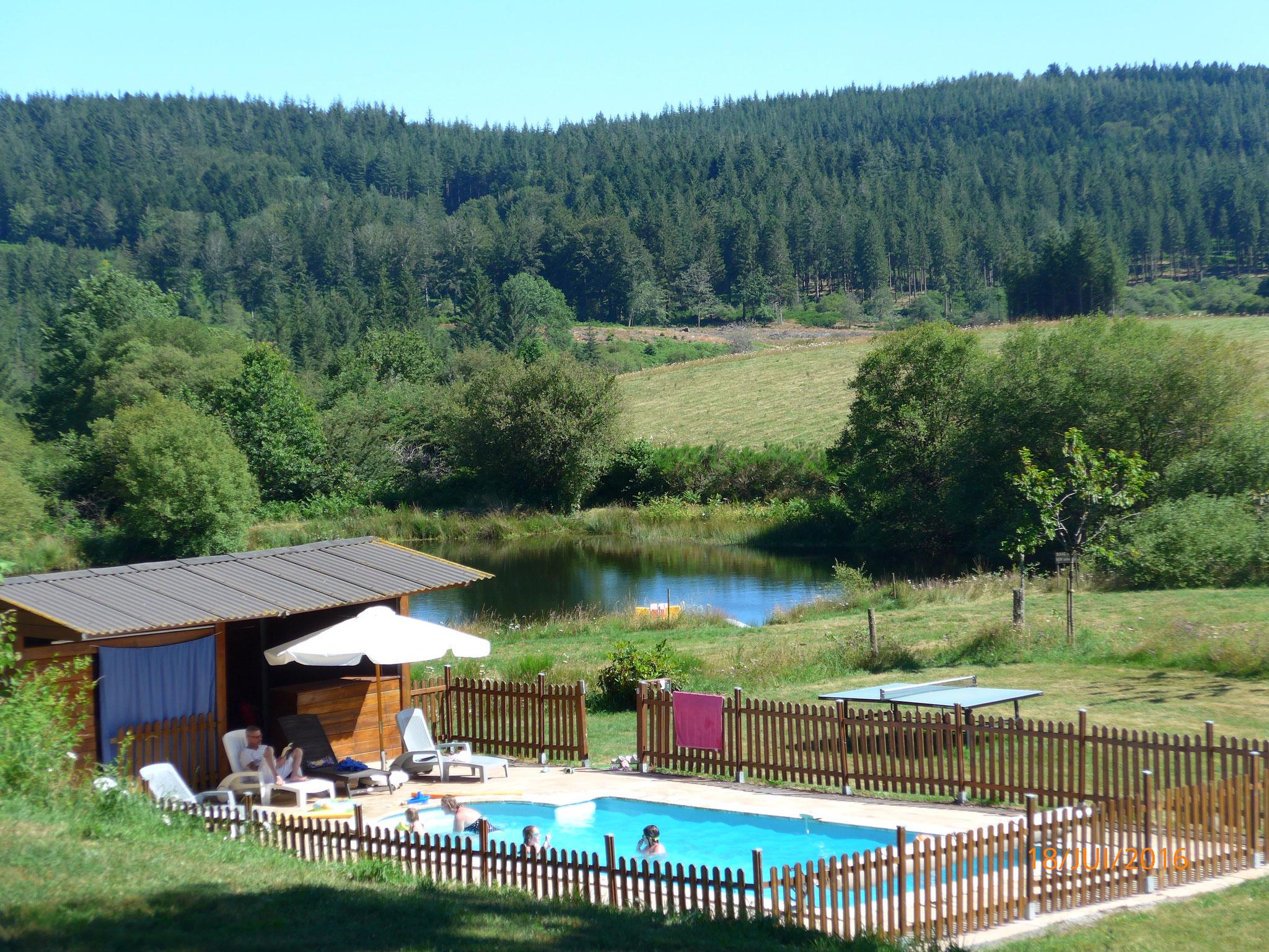 la piscine,de juin à septembre