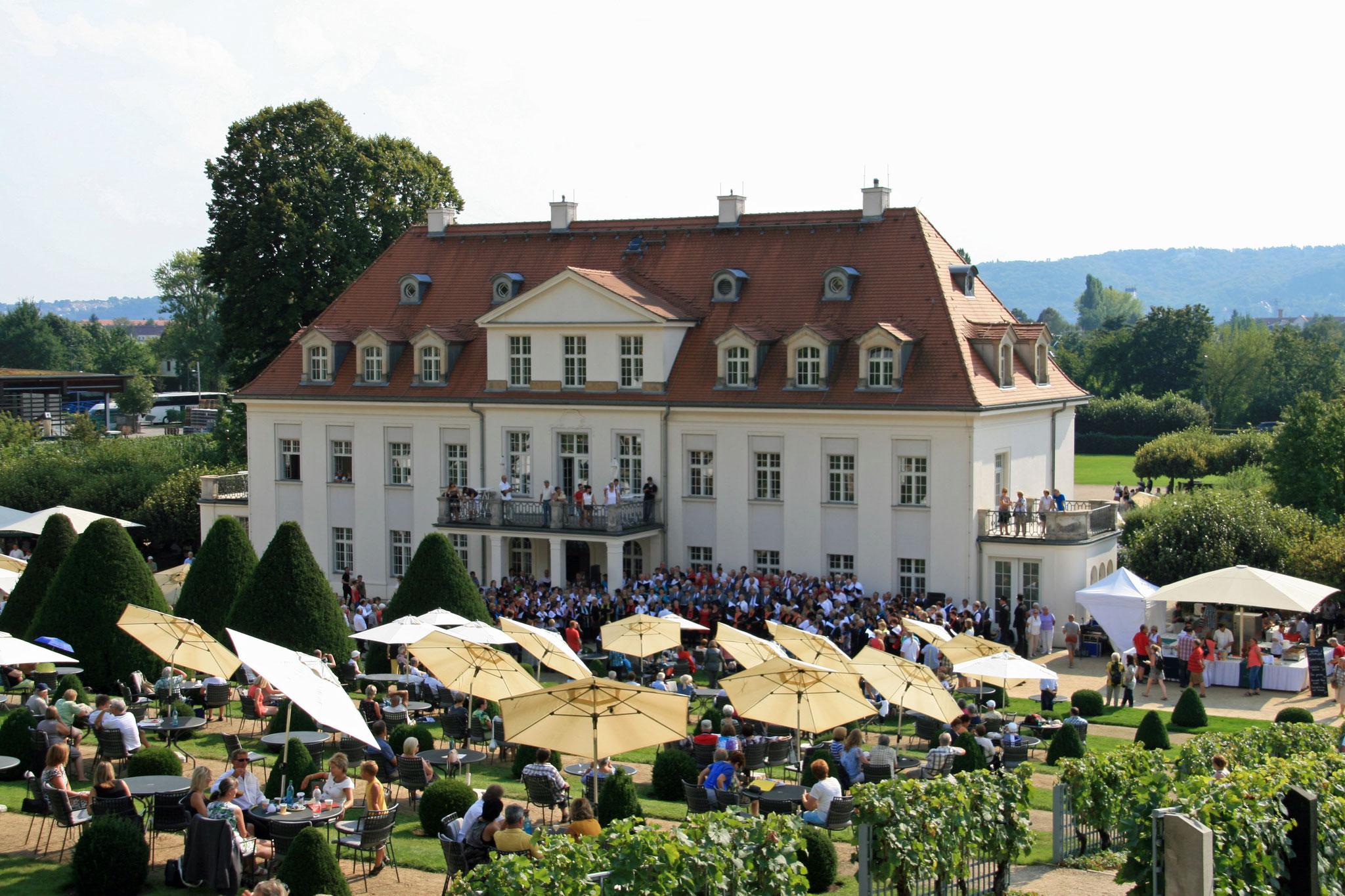 12. Chorsingen zum Federweißerfest im Schloß Wackerbarth