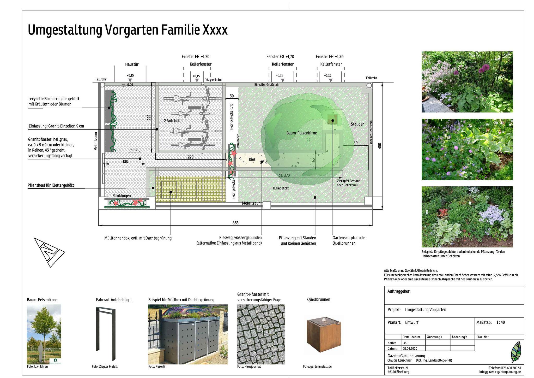 Städtischer Gründerzeit - Vorgarten mit hohem Anspruch an Funktion, Bamberg