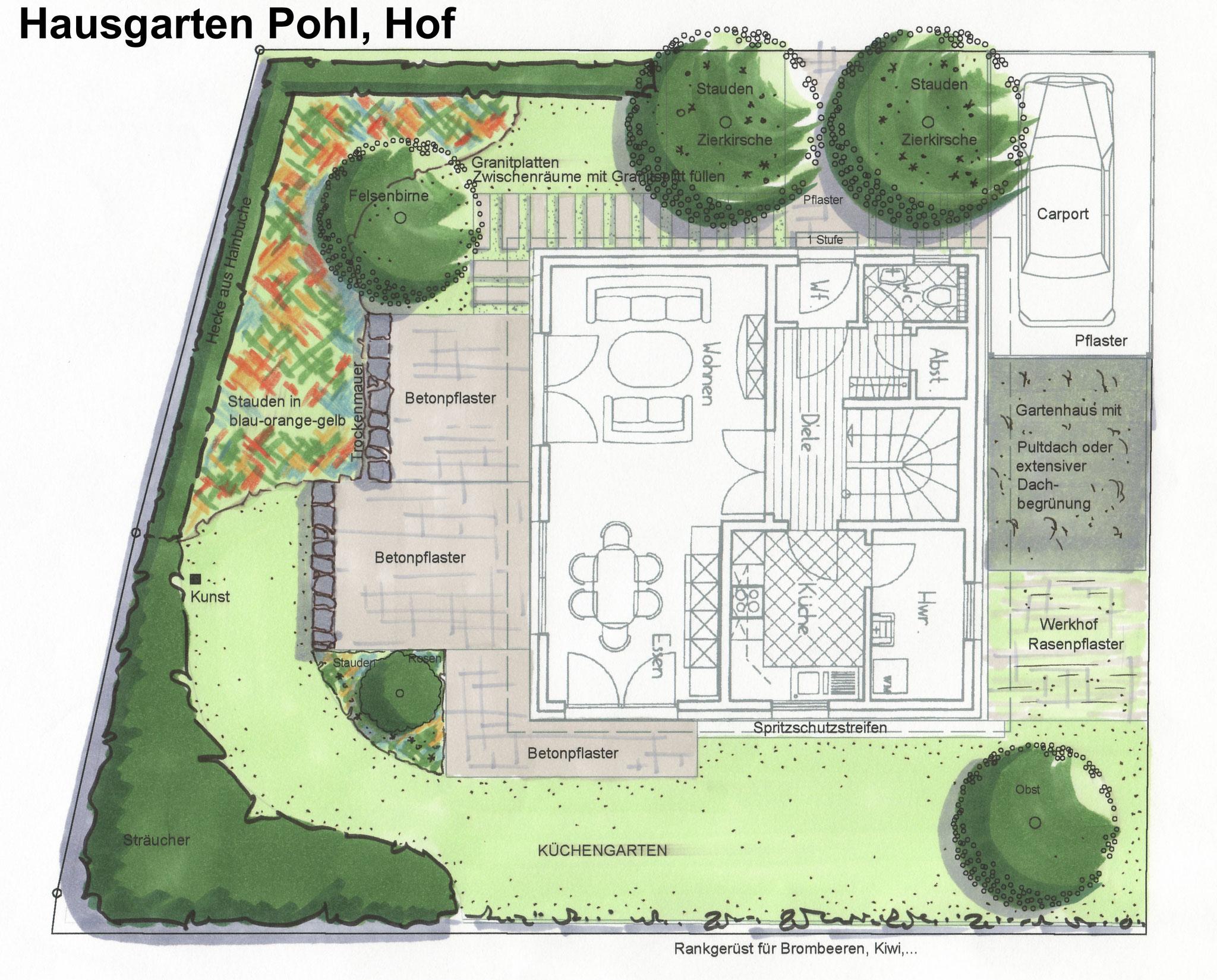 Kleiner Hausgarten in Hof/Saale