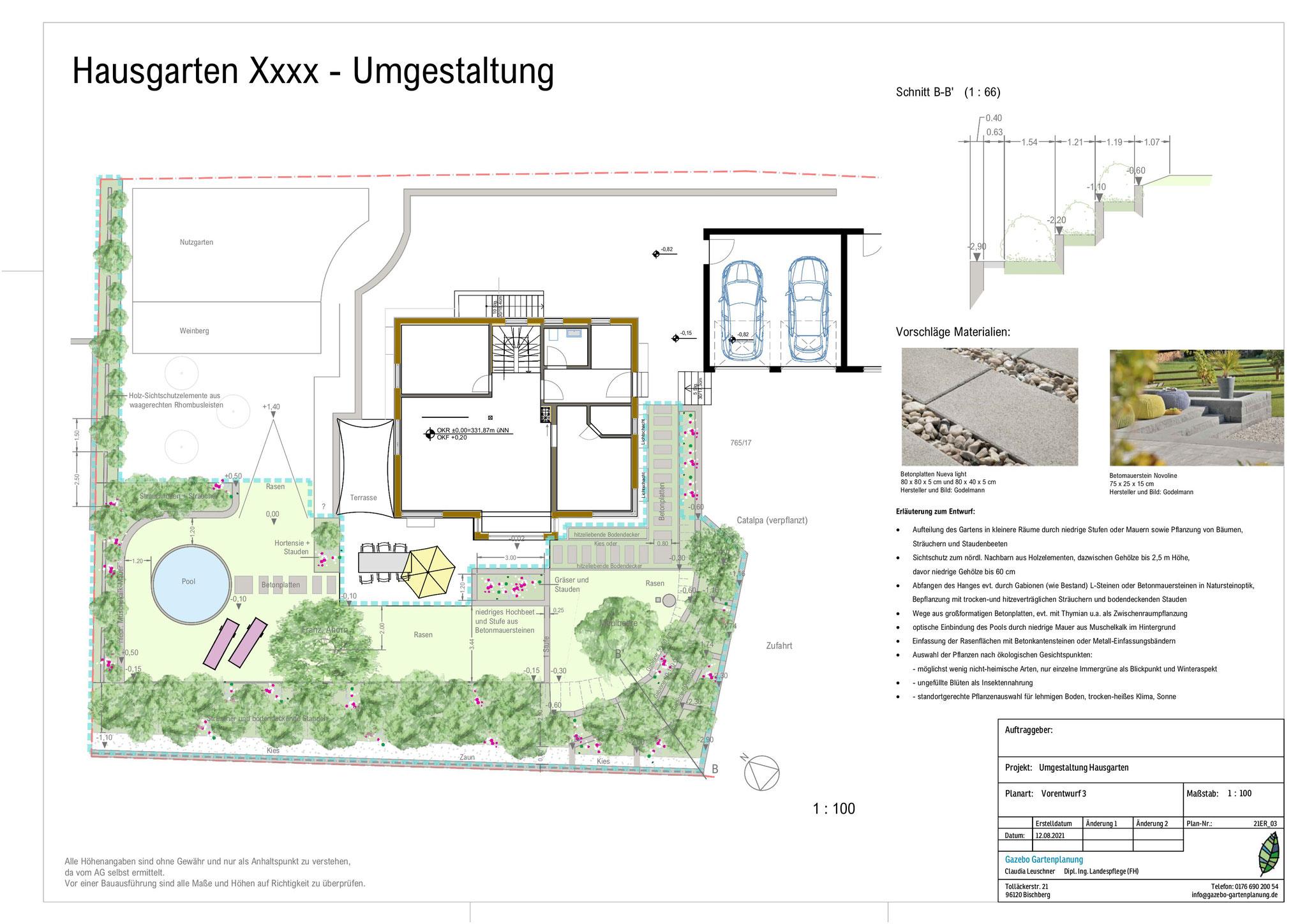 Umgestaltung Teilbereich Hausgarten Lkr Hassberge