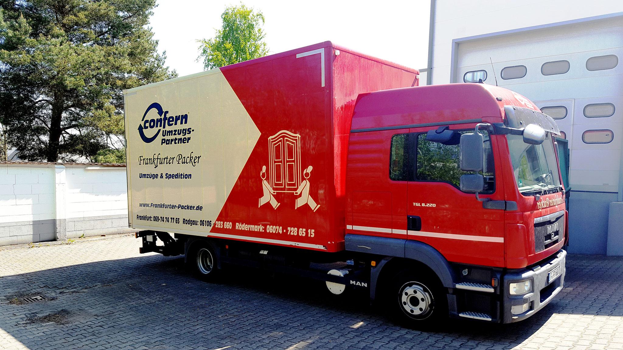 Einer unserer Möbelwagen