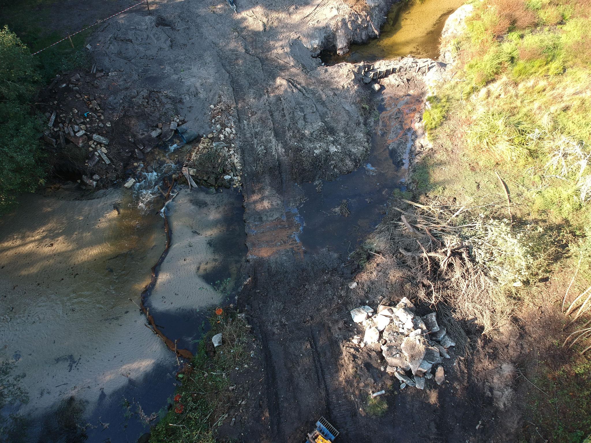 Depuis la semaine dernière, la barrage du Graoux n'existe plus.