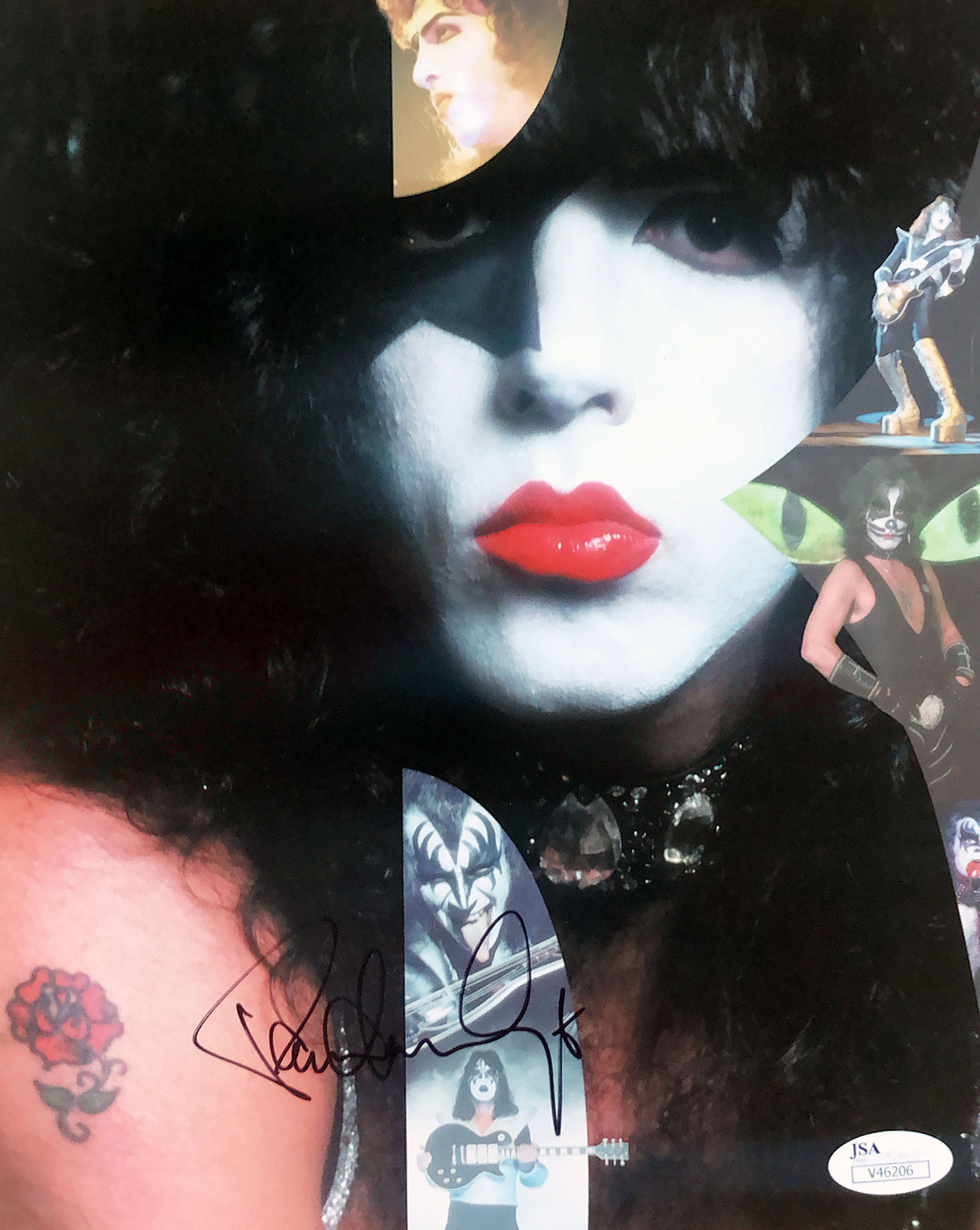 Paul Stanley Guitar Autograph bought