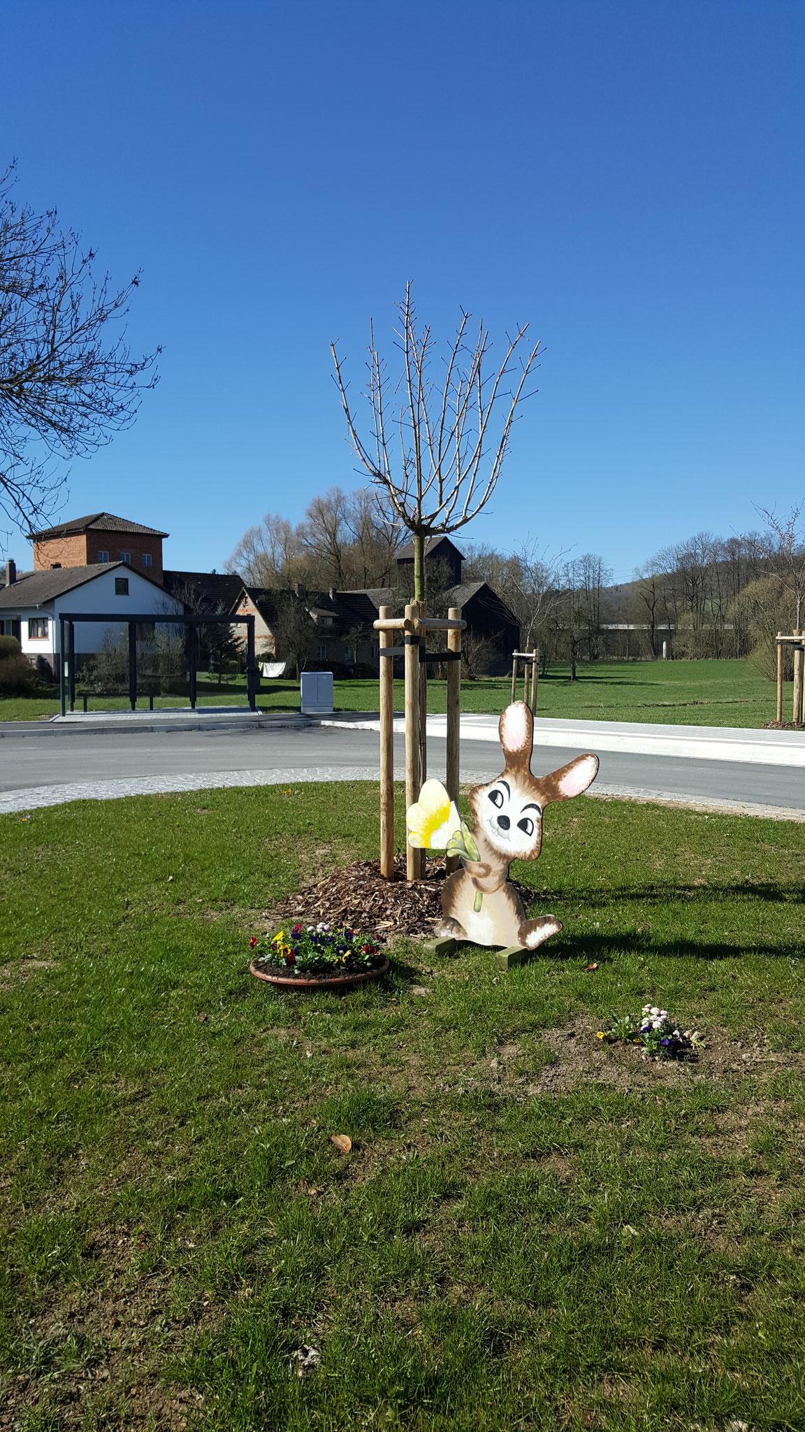 Der Osterhase in Unterwohlsbach
