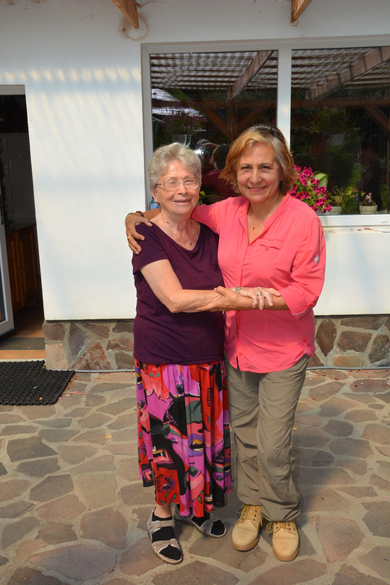 mit der Mutter von Michael