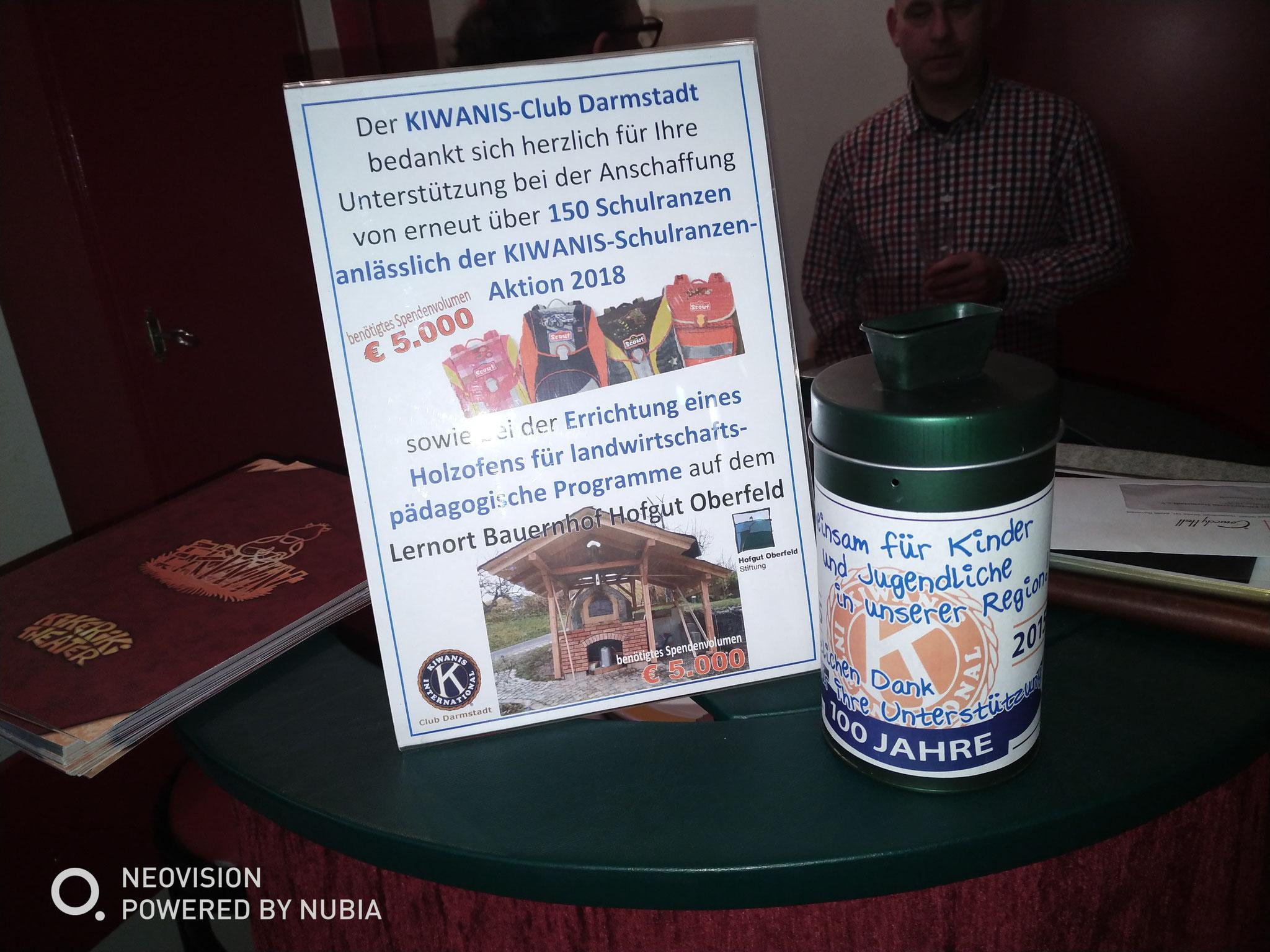 Auch die Erlöse und Spenden bei dieser Veranstaltung fließen in unsere aktuellen KIWANIS-Projekte