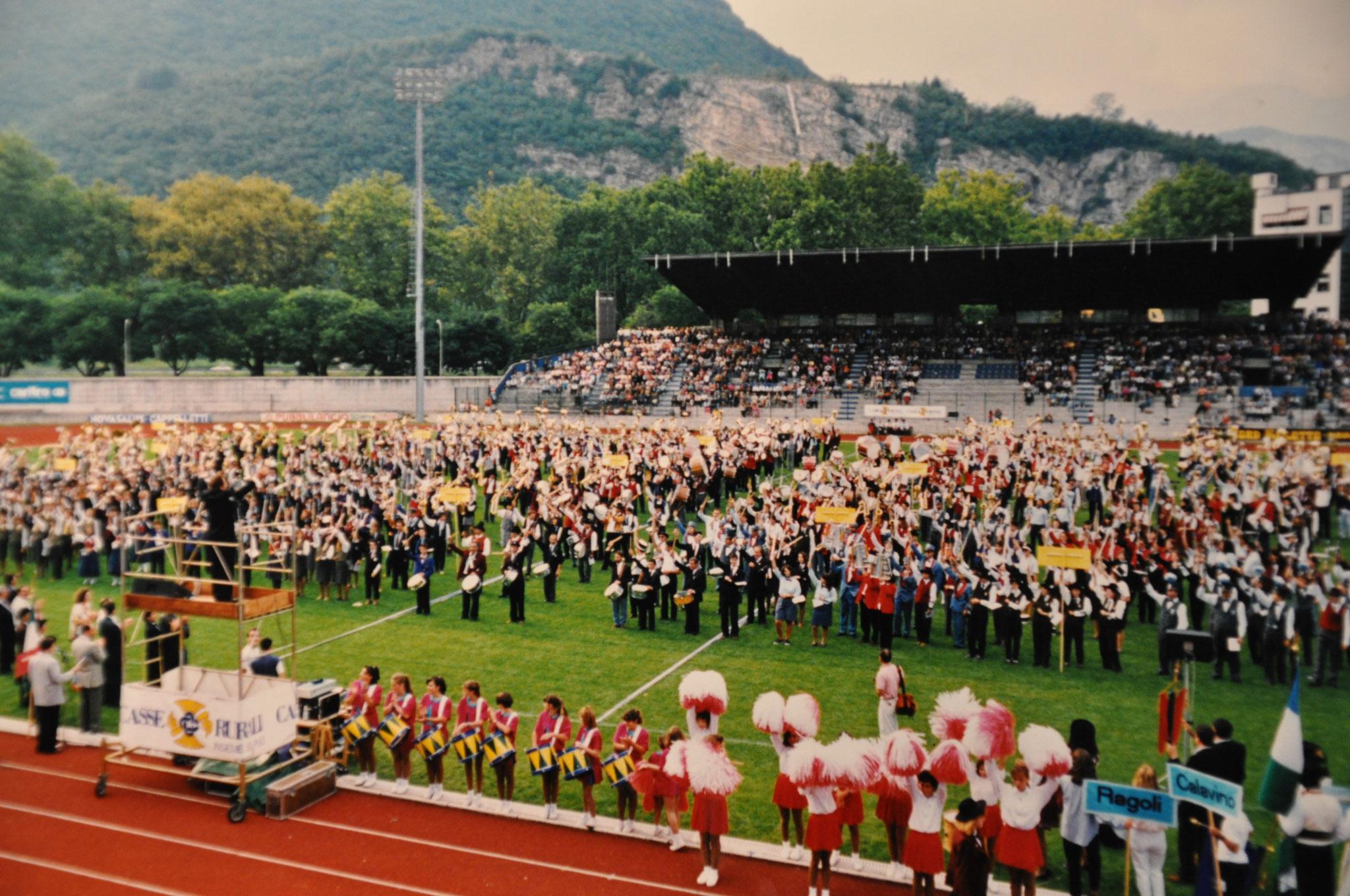 1993 - Trento stadio Briamasco per 30° di fondazione Federazione Corpi Bandistici di Trento