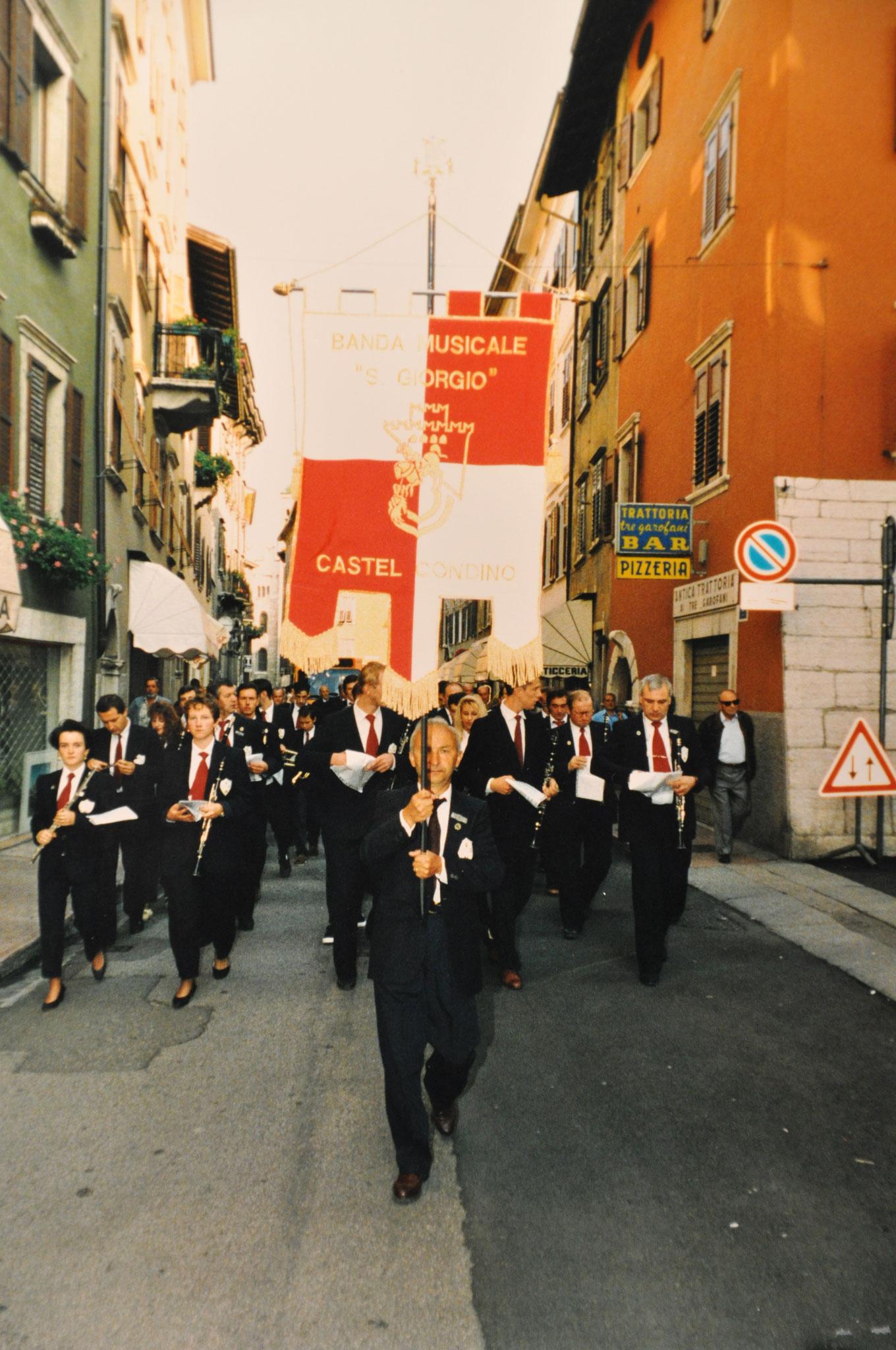 1993 - Sfilata a Trento per 30° di fondazione Federazione Corpi Bandistici di Trento