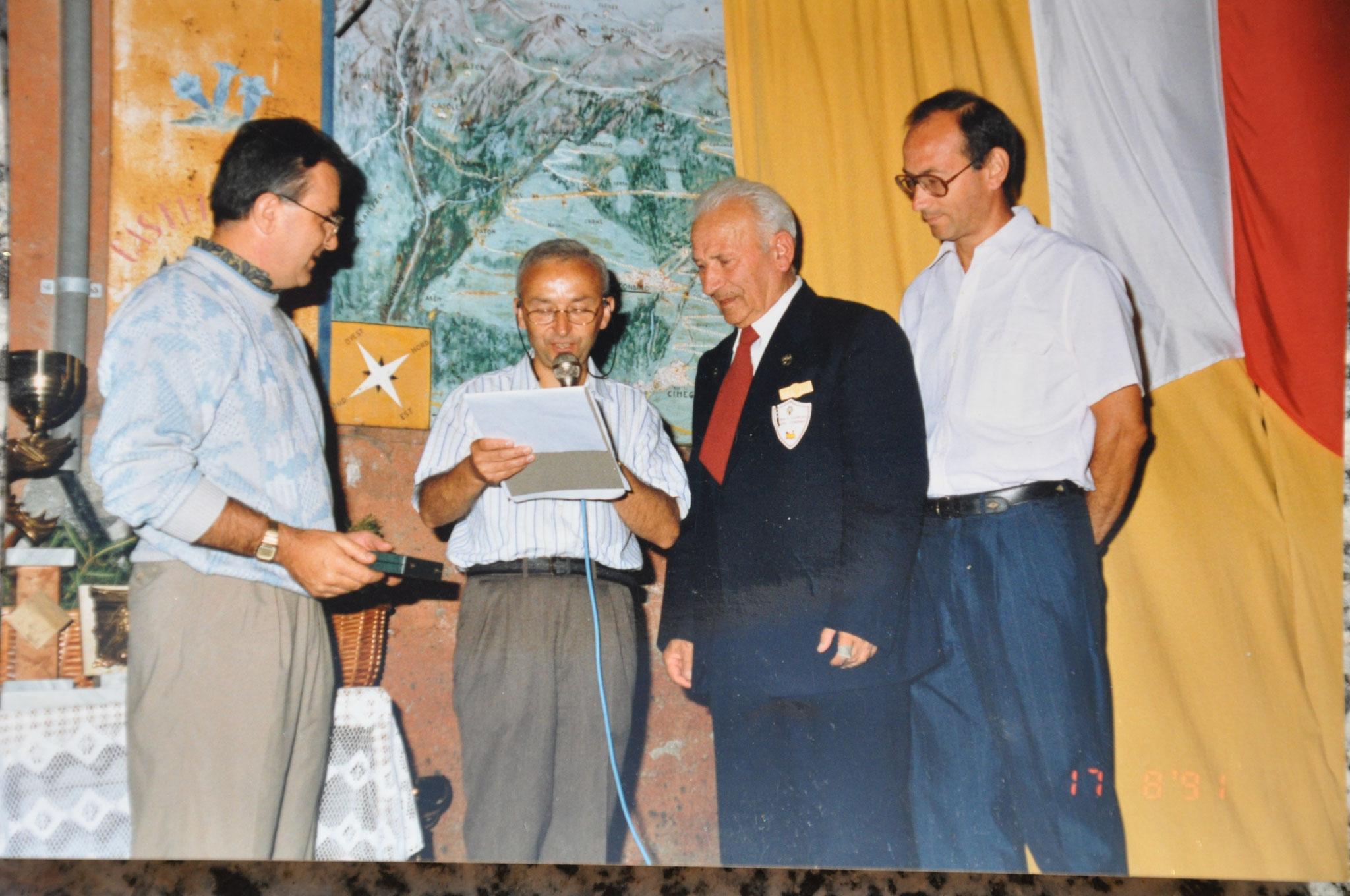 1991 - Targa a Leone Tarolli per settanta anni di attività -