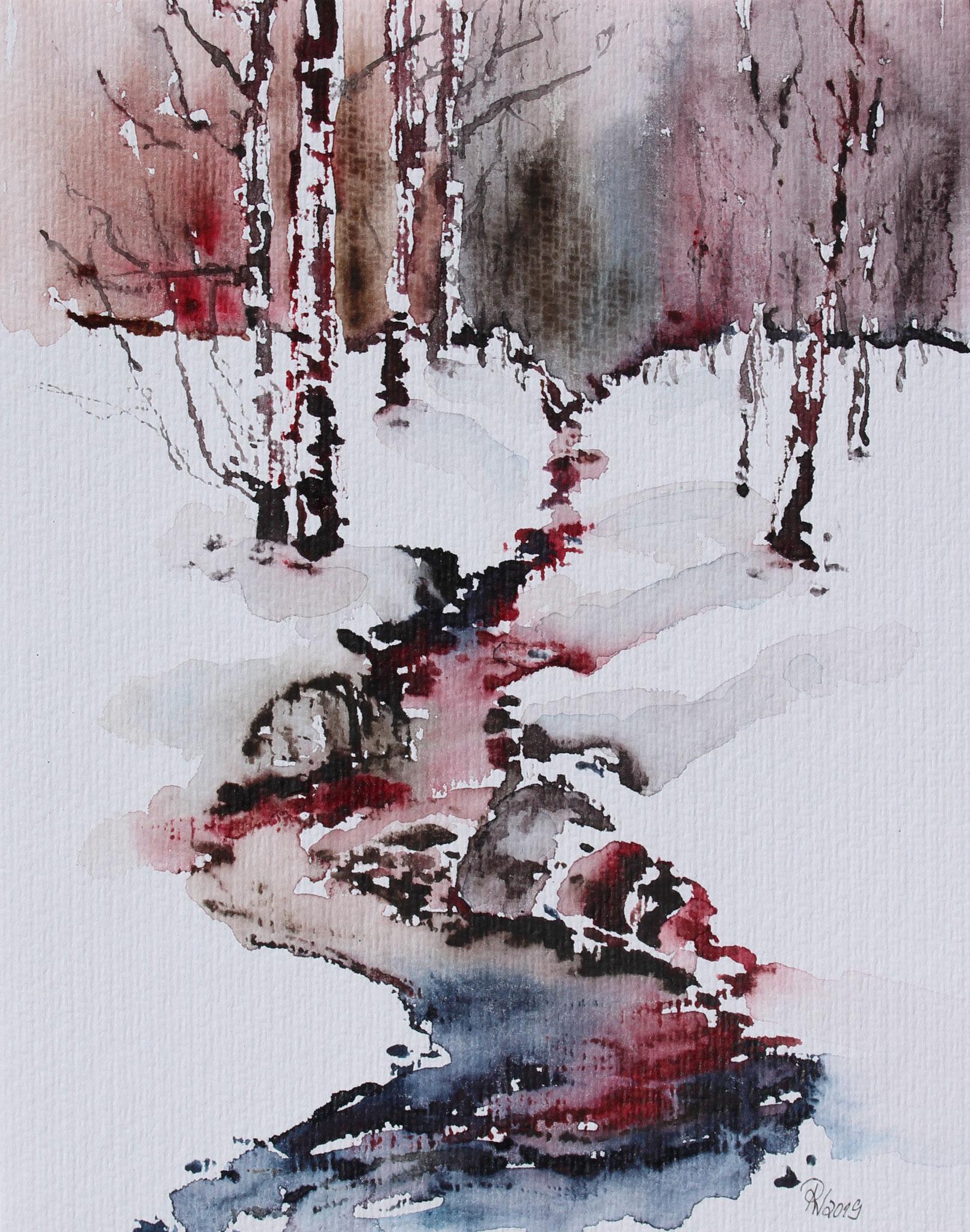 12.12., Aquarell von Petra Wündisch, Brieselang, A29