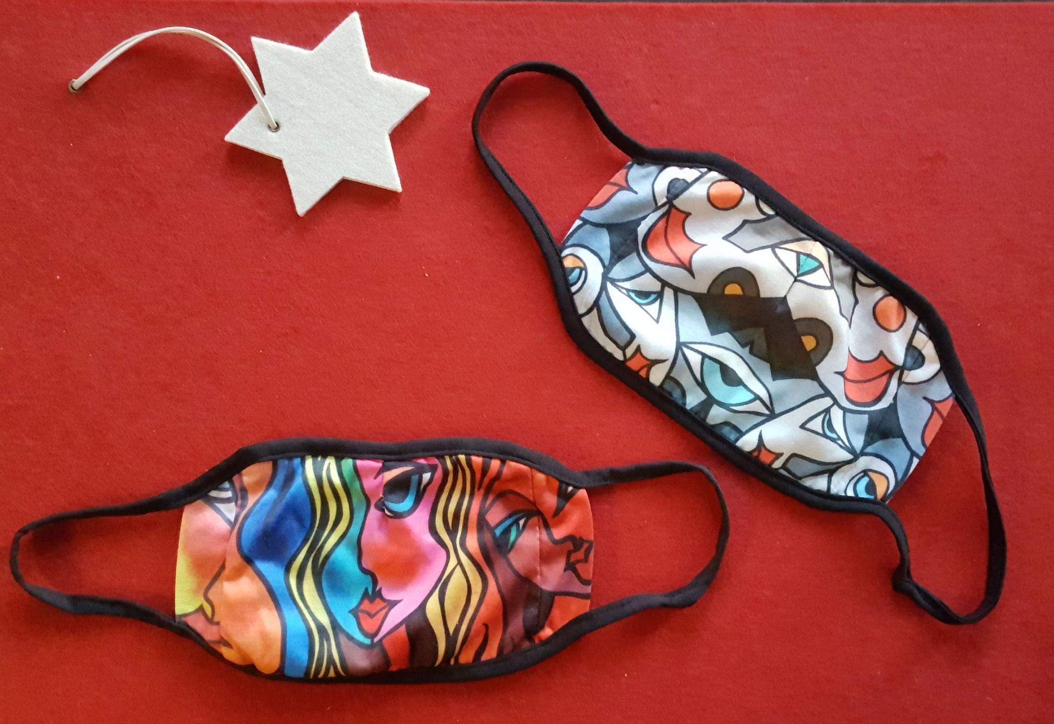 21.12., Die ART-Masken, Kult-Objekte für die Mitfinanzierung der KMP-Ausstellungen über den KMP-Shop, zur Verfügung gestellt von unserem Partner und Künstler Uli Fischer, Uli-Art-Design, A35