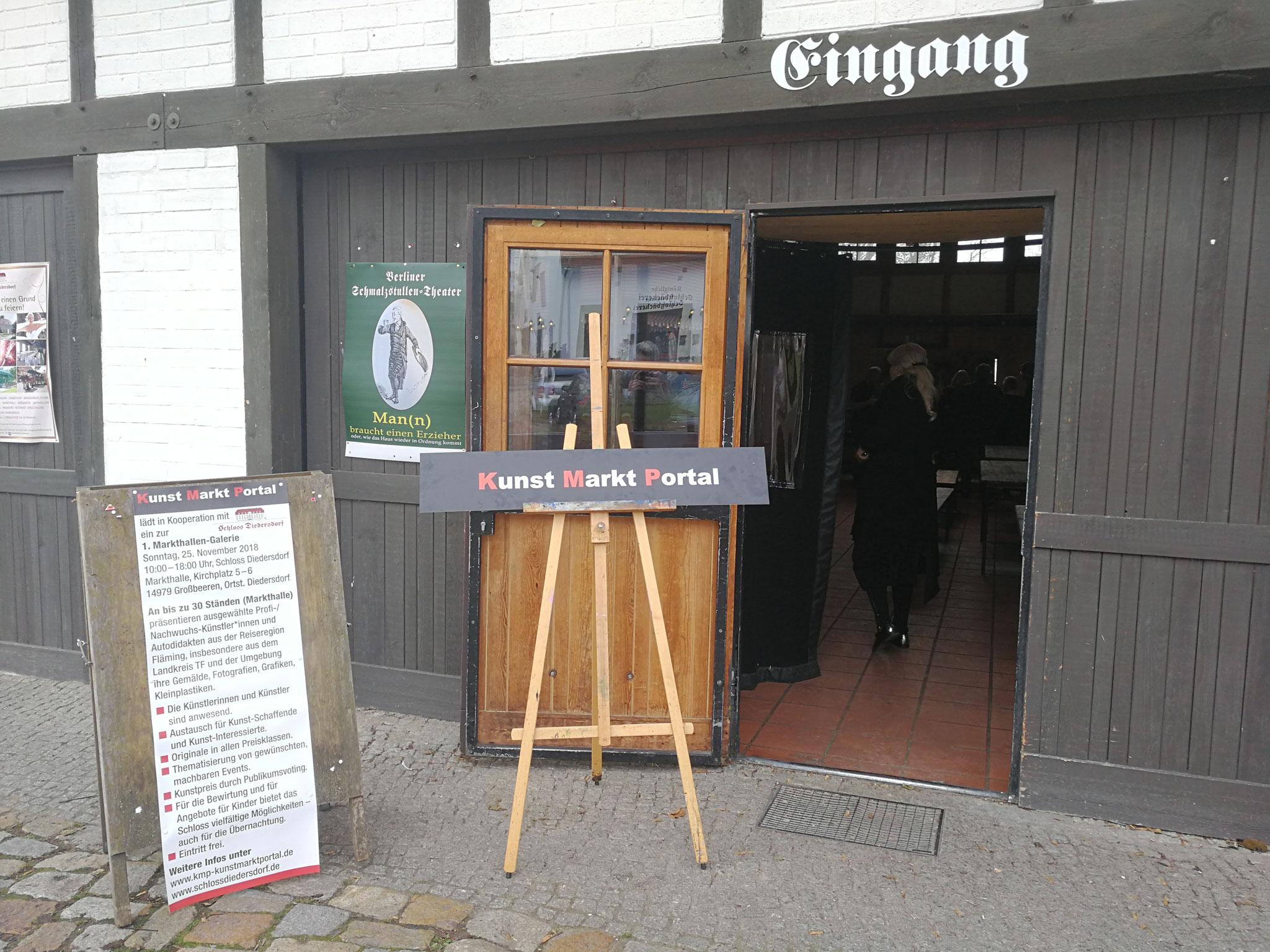 Eingang zur Markthallen-Galerie 2018