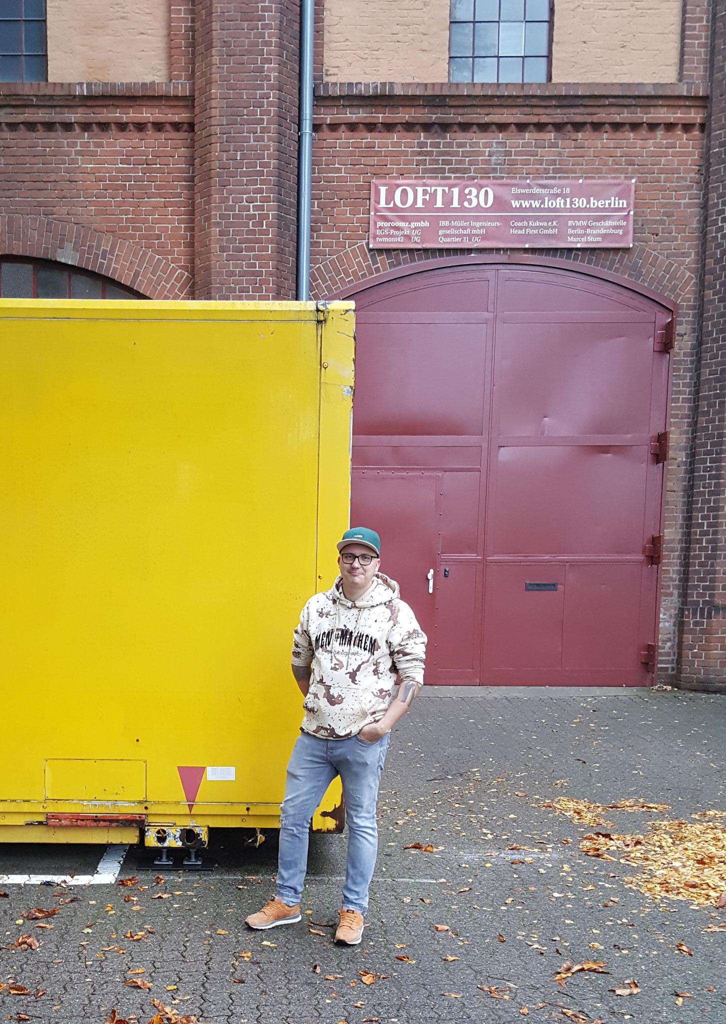 Orts- und Inspirationstermin mit Sprayer Sören Weigert