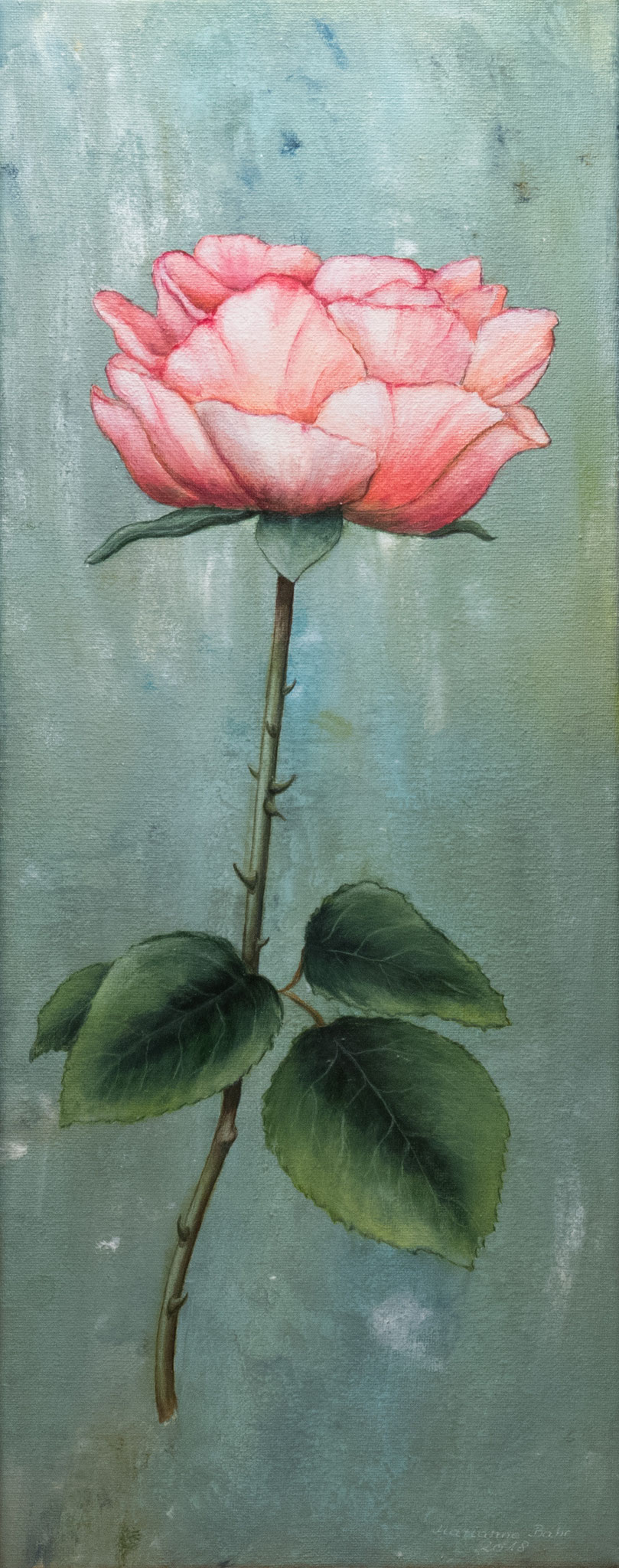 30.1., Acryl-Gemälde von Marianne Bahr, Schönefeld, A7