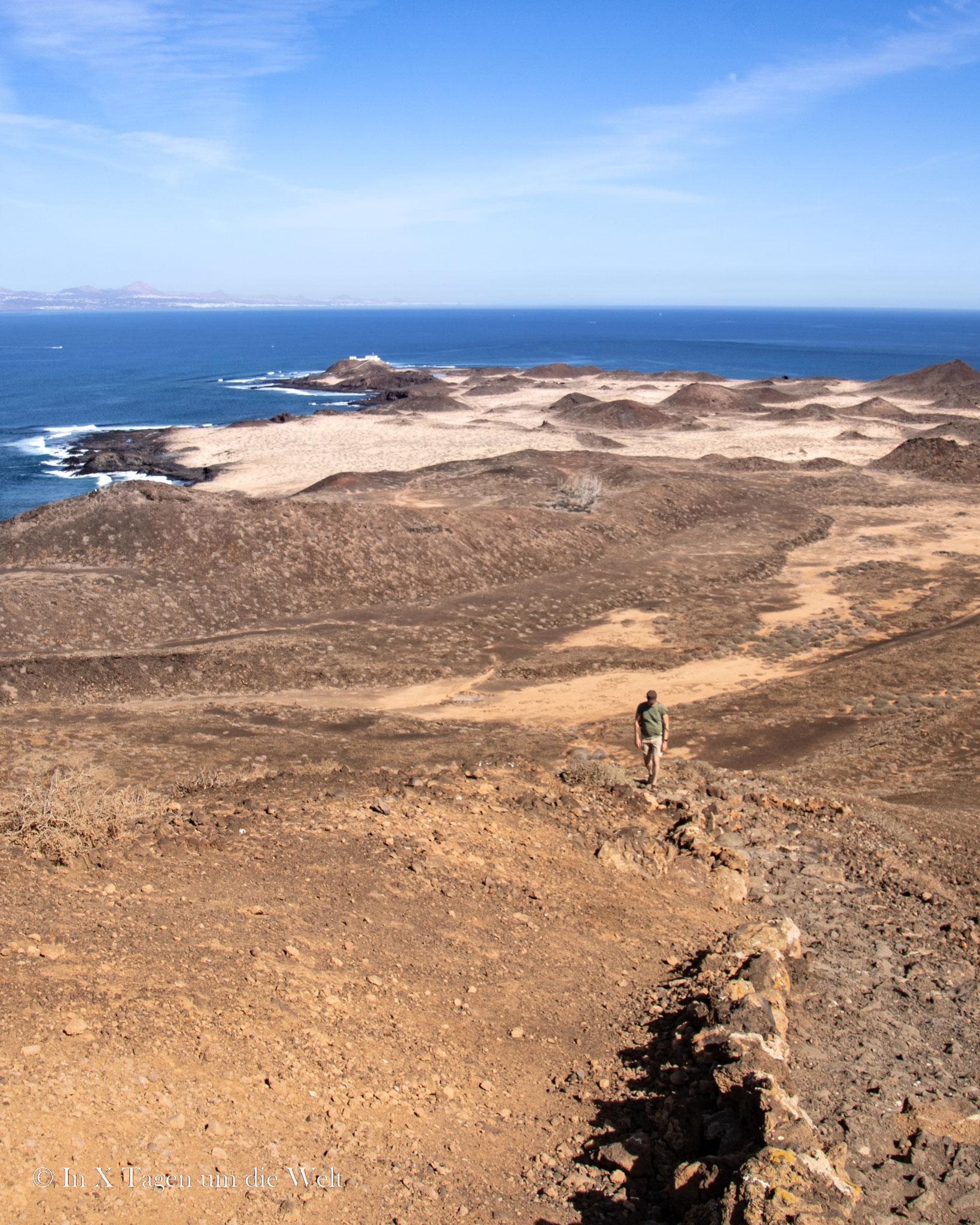 Blick zurück über die Insel