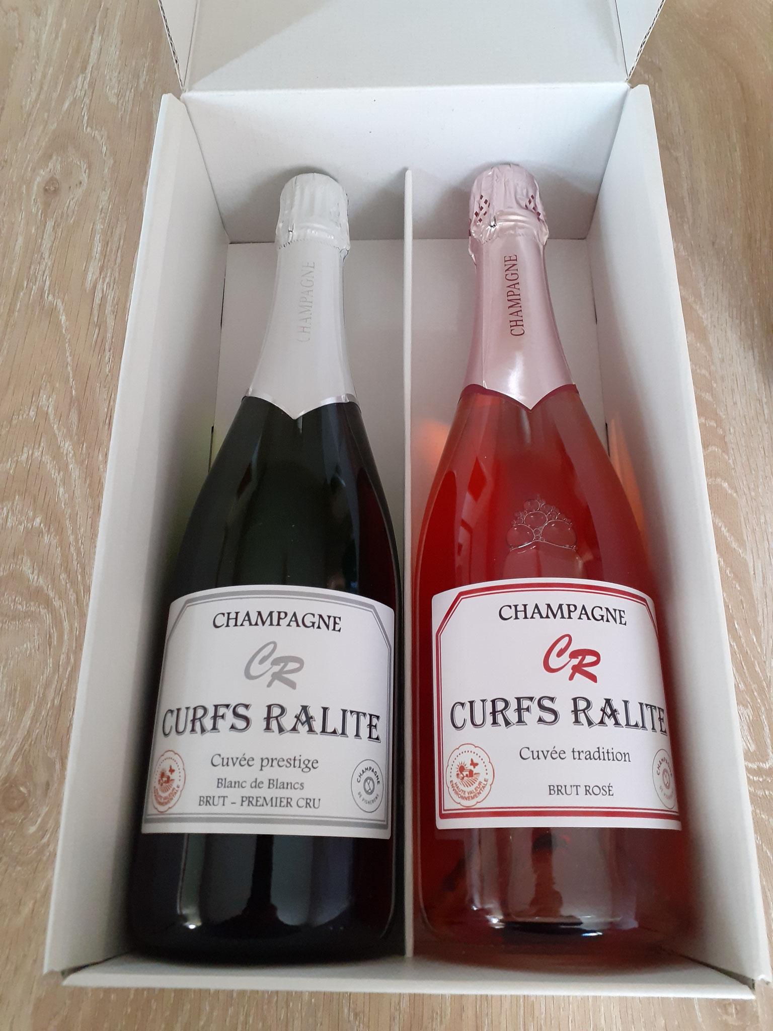 Coffret champagne prestige et rosé