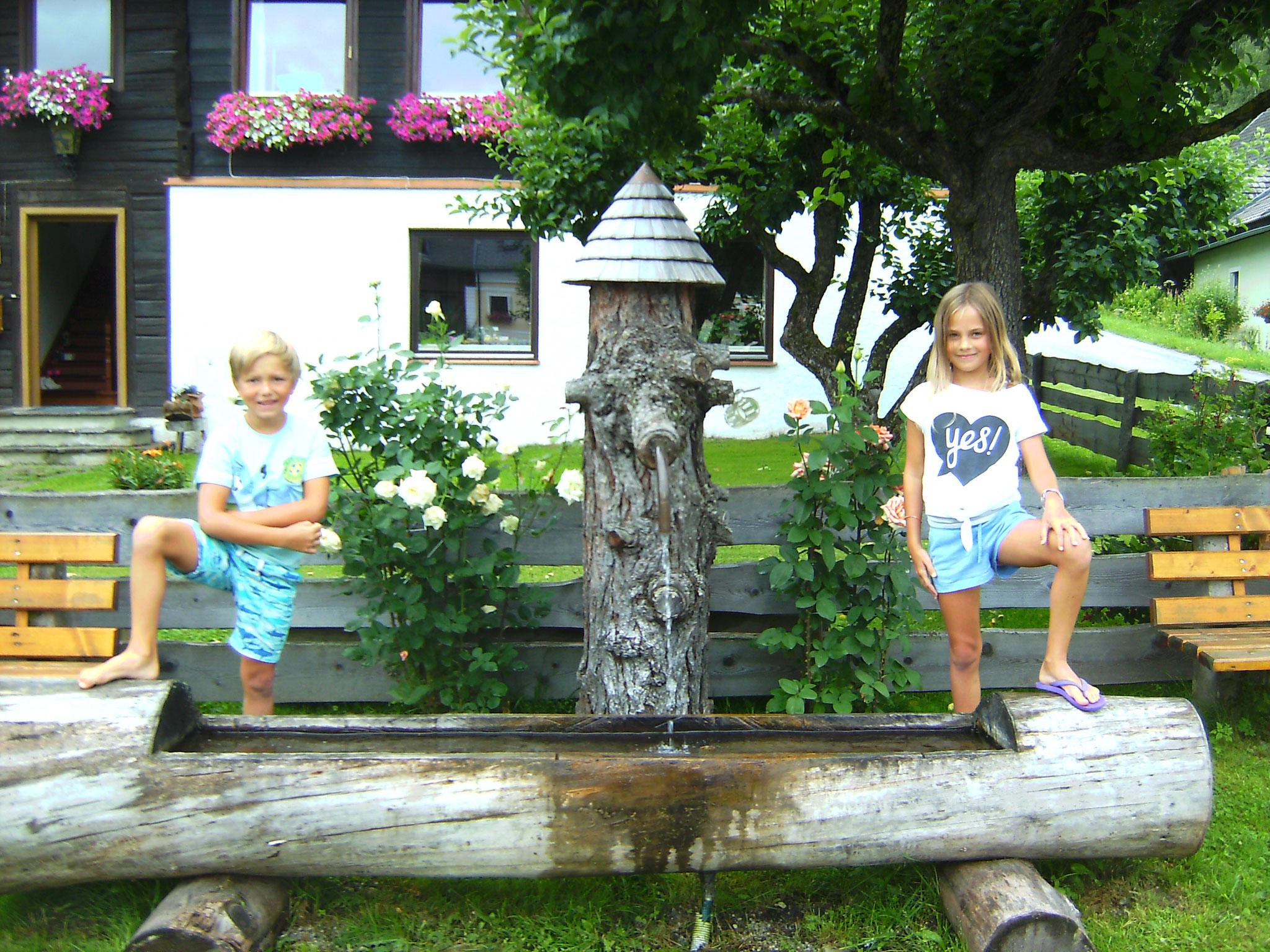 Brunnen mit echtem Lungauer Trinkwasser
