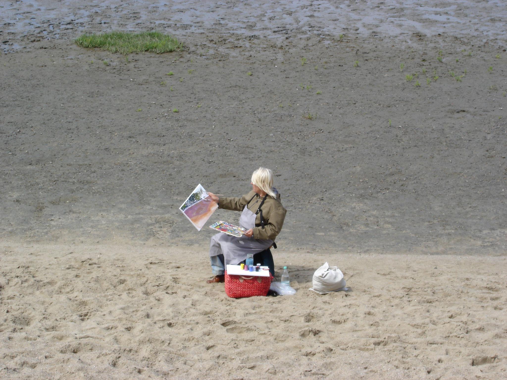 Malen am Strand von Dangast