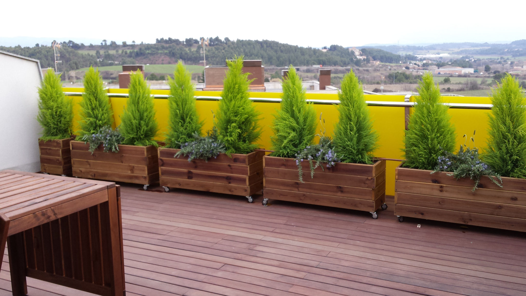 Jardineras al autoclave exterior jardineras de madera - Jardineras rusticas exteriores ...