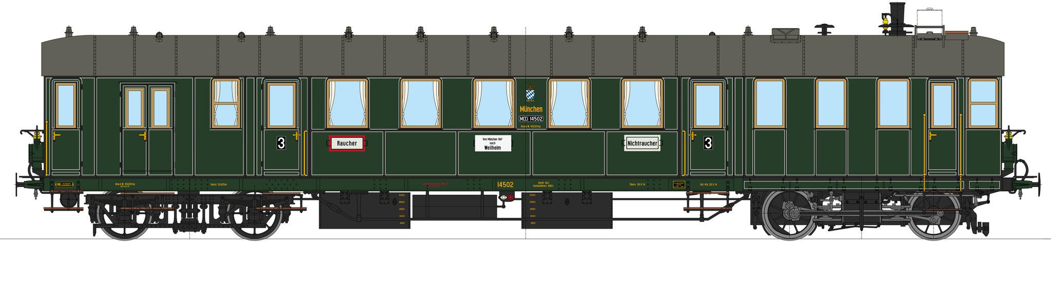 Best.-Nr. 11042, Lok-Nr. 14502, grün, Bauzustand 1914