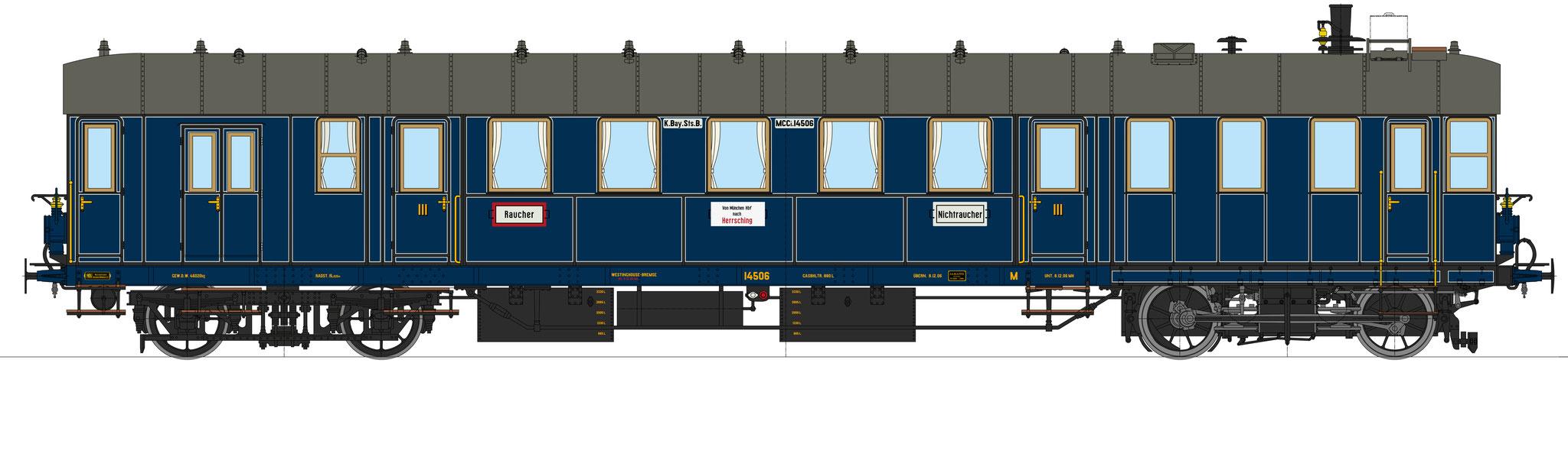 Best.-Nr. 11043, Lok-Nr. 14506, blau, Bauzustand 1906